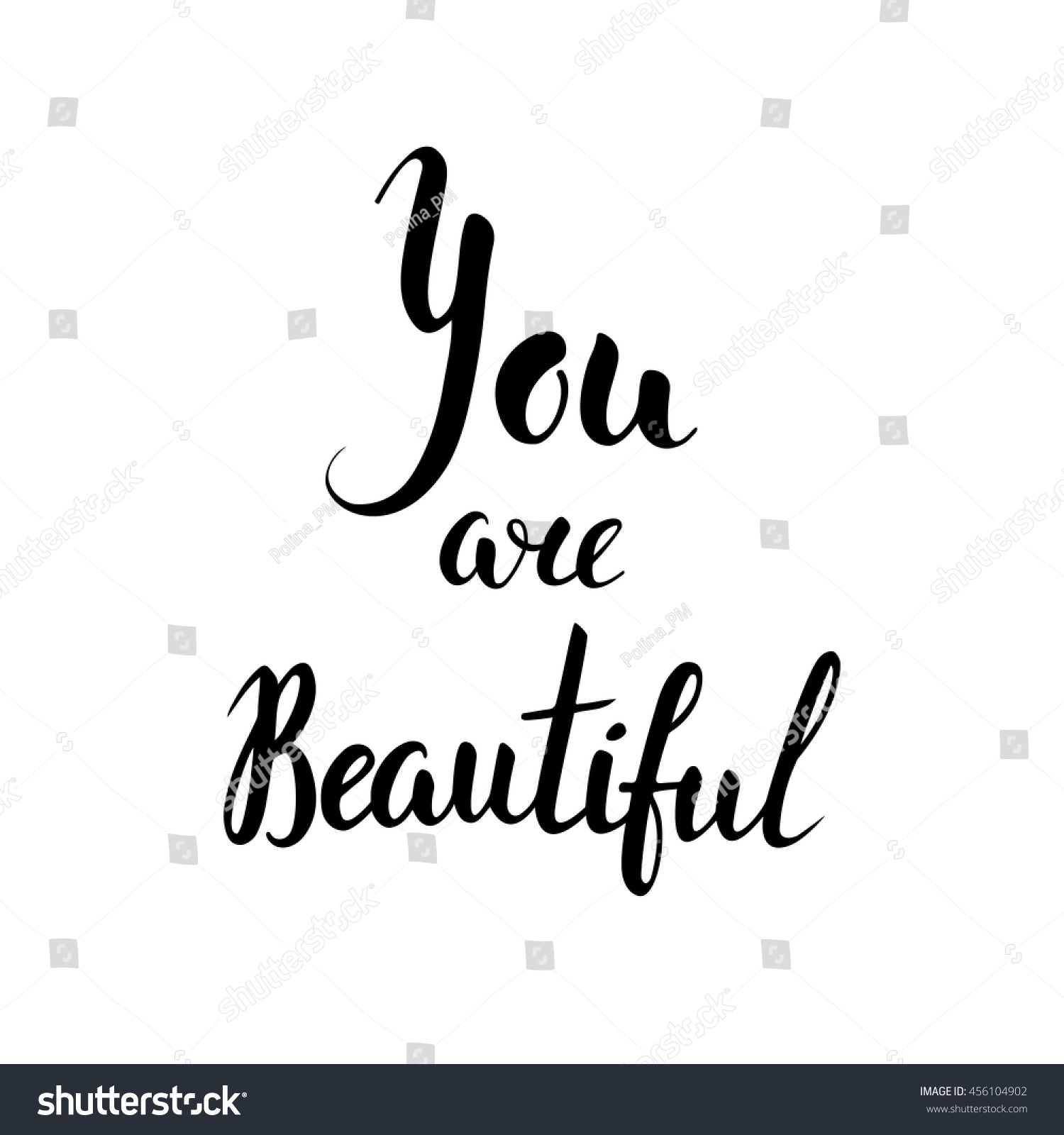 Royalty free you are beautiful inspirational quote … stock photo avopix