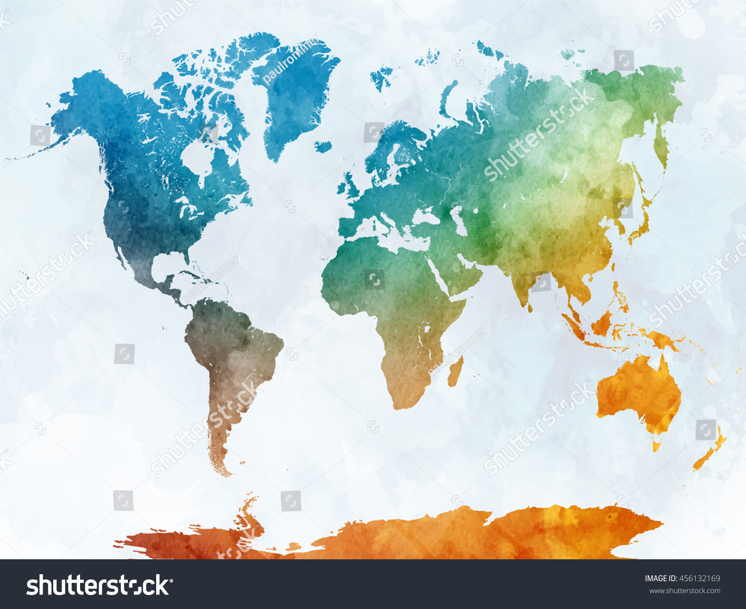 World map watercolor painting abstract splatters stock world map in watercolor painting abstract splatters gumiabroncs Images