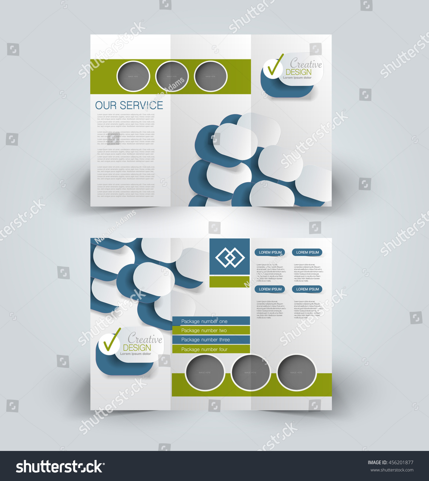 brochure design templates for education - brochure mock design template business education stock