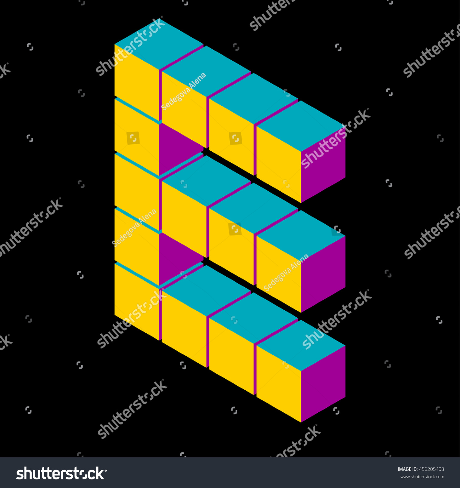 isometric pixel letter e 3d letter e isometric e abc  alphabet on black    pixel e letters, isometric lettering  3d e  geometric alphabet, cube font
