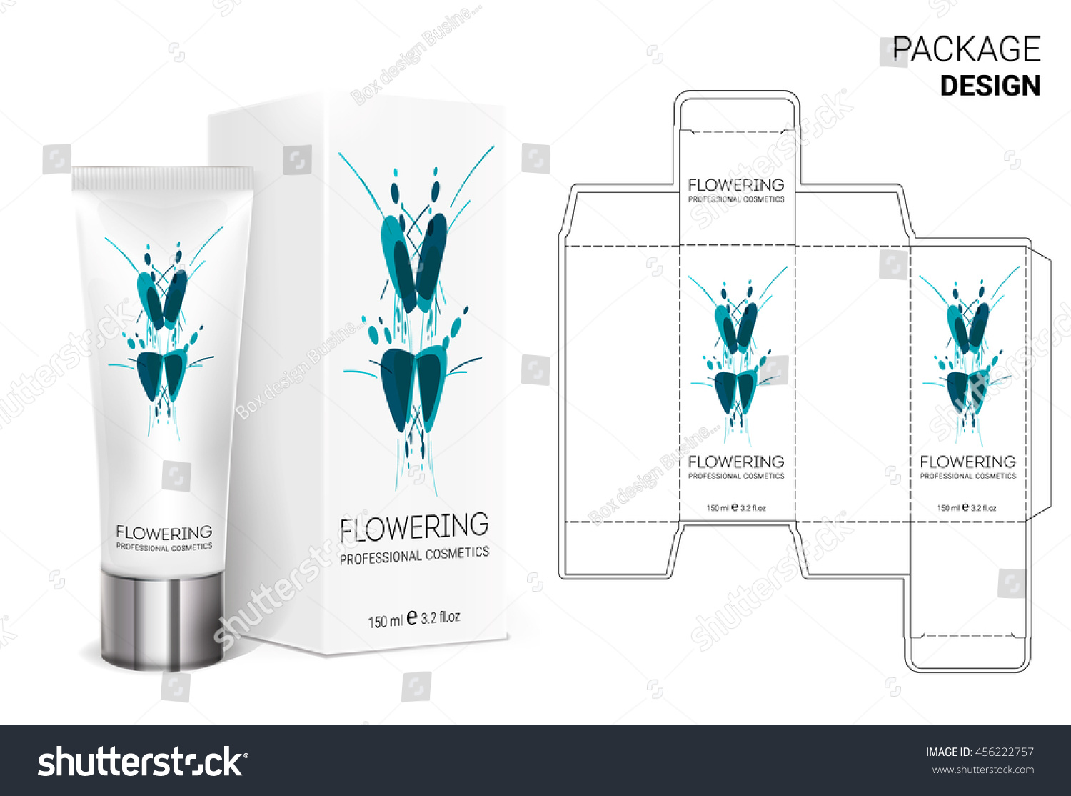 Design Packaging Boxpackaging Template Box Stock Vector Royalty
