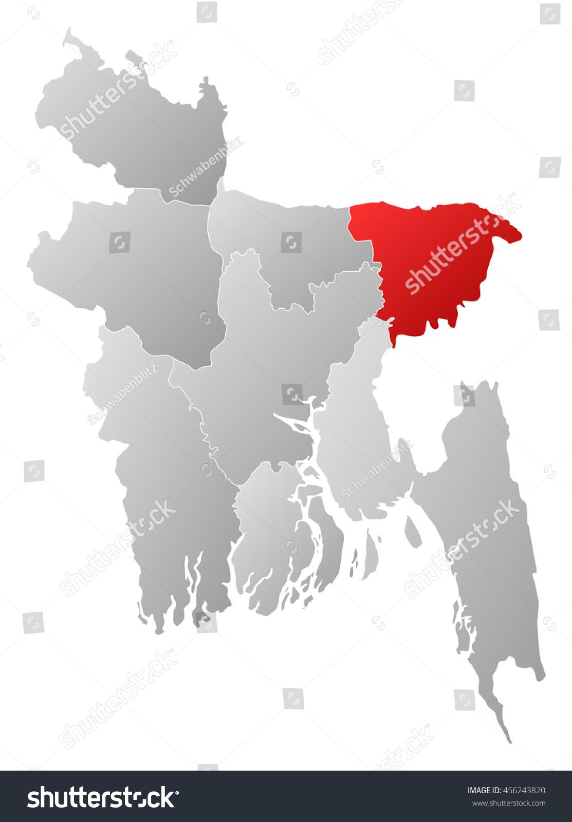 Map bangladesh sylhet stock illustration 456243820 shutterstock map bangladesh sylhet gumiabroncs Image collections