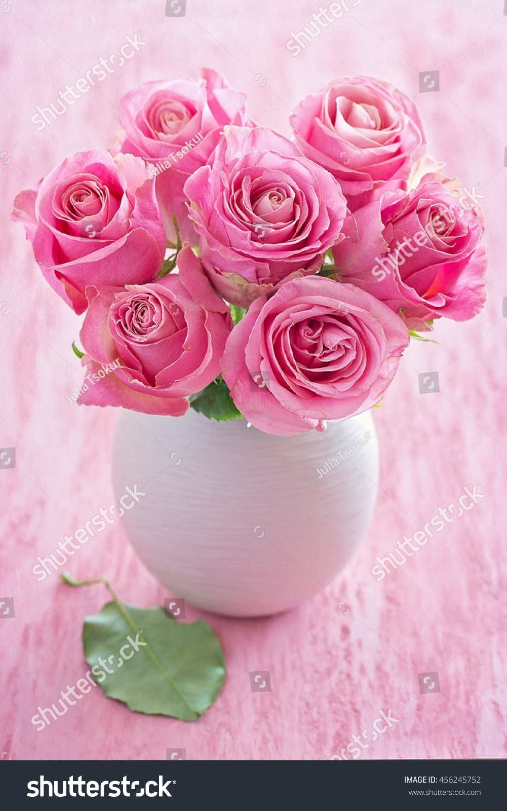 Beautiful Fresh Roses Flowers Vase On Stock Photo Edit Now