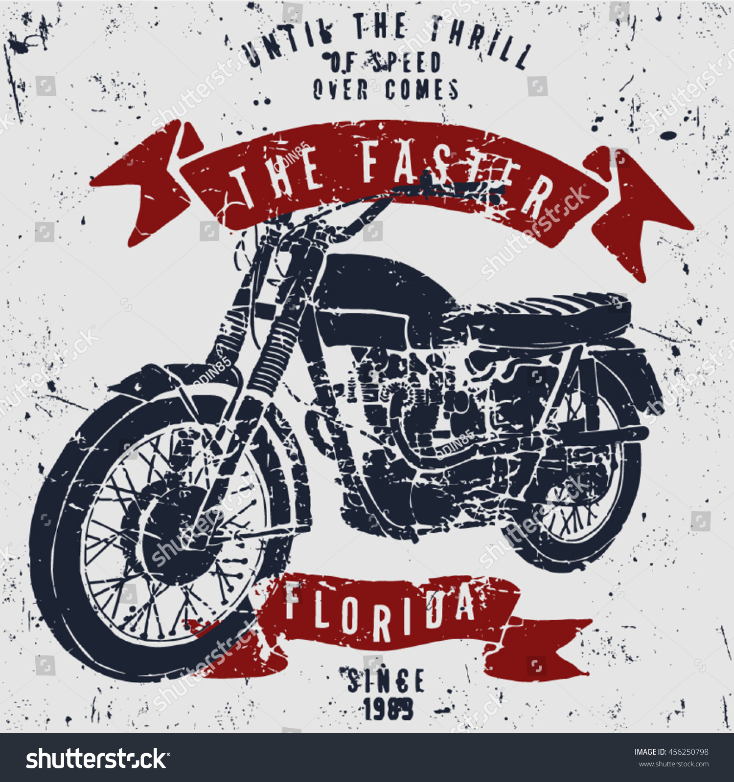 Uncategorized Motorcycle Pictures To Print motorcycle tshirt print hand drawn stock vector t shirt with on dark background and grunge texture