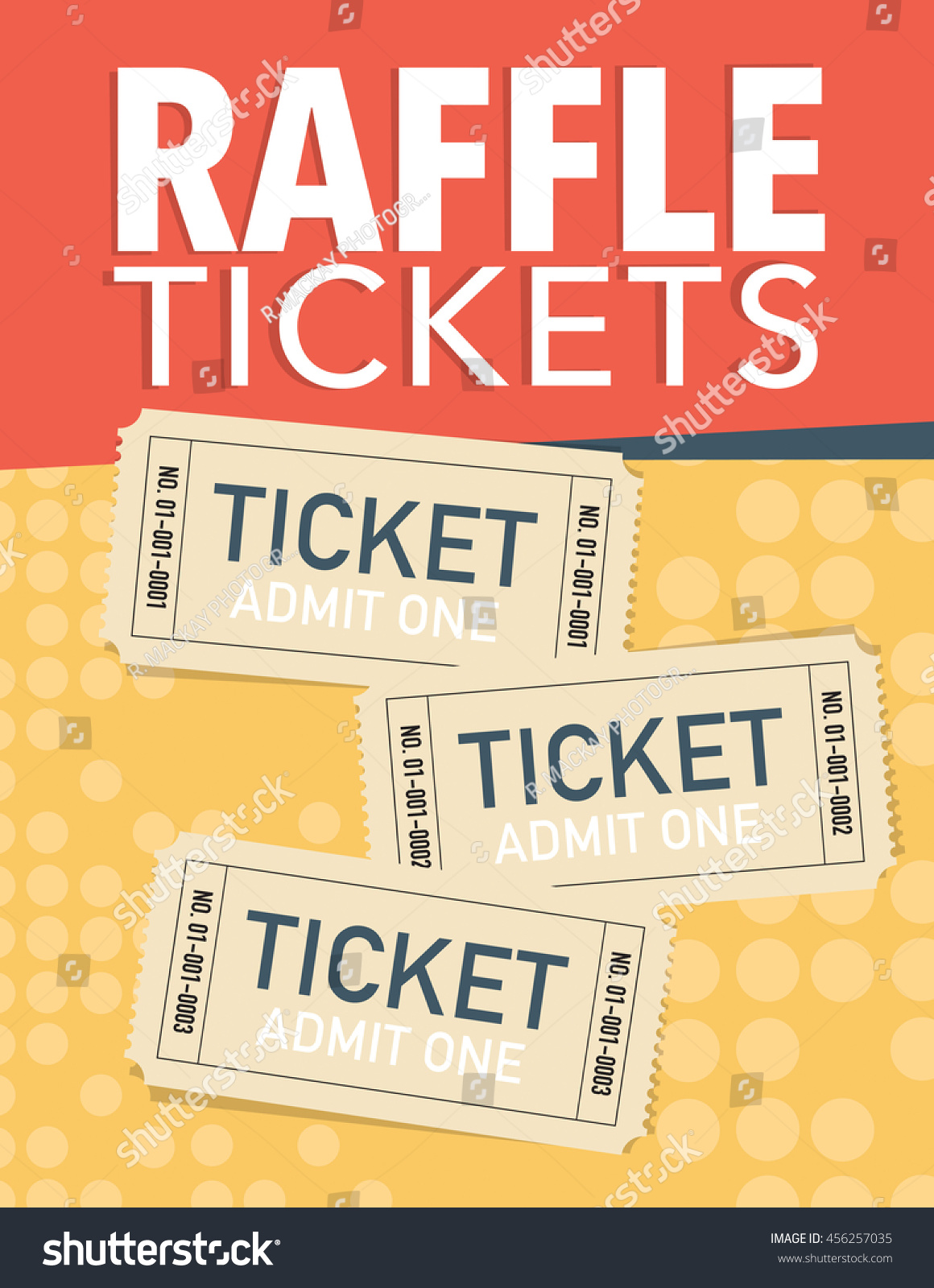 raffle tickets poster three vector tickets stock vector  raffle tickets poster three vector tickets