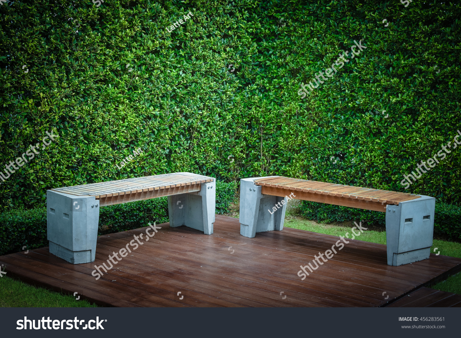 Garden Table And Chairs With Water Resistant Outdoor. Chair With Vintage  Color Effect. Garden