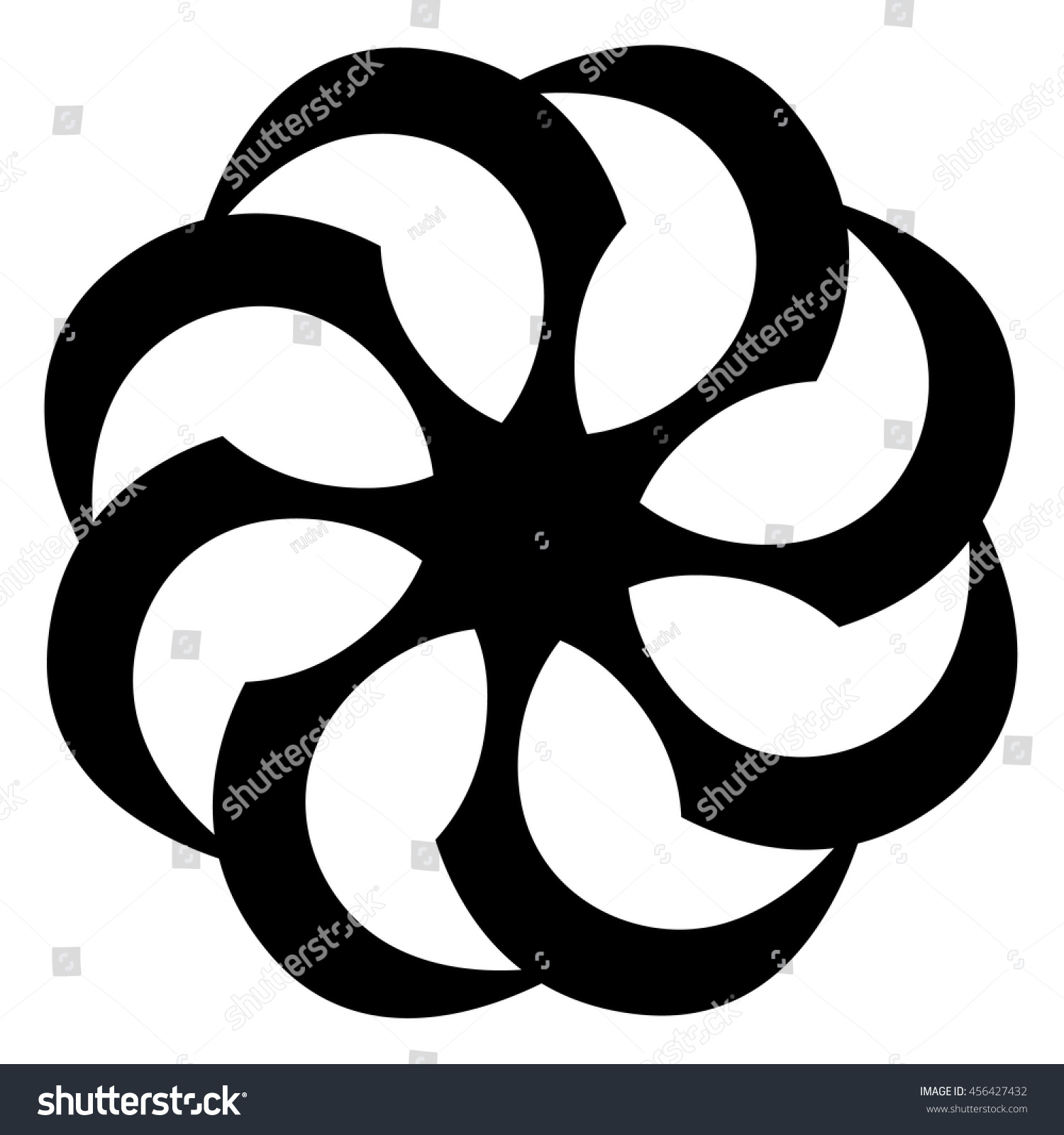 Tattoo Tribal Circle Vector Shape Tribal Stock Vector Royalty Free