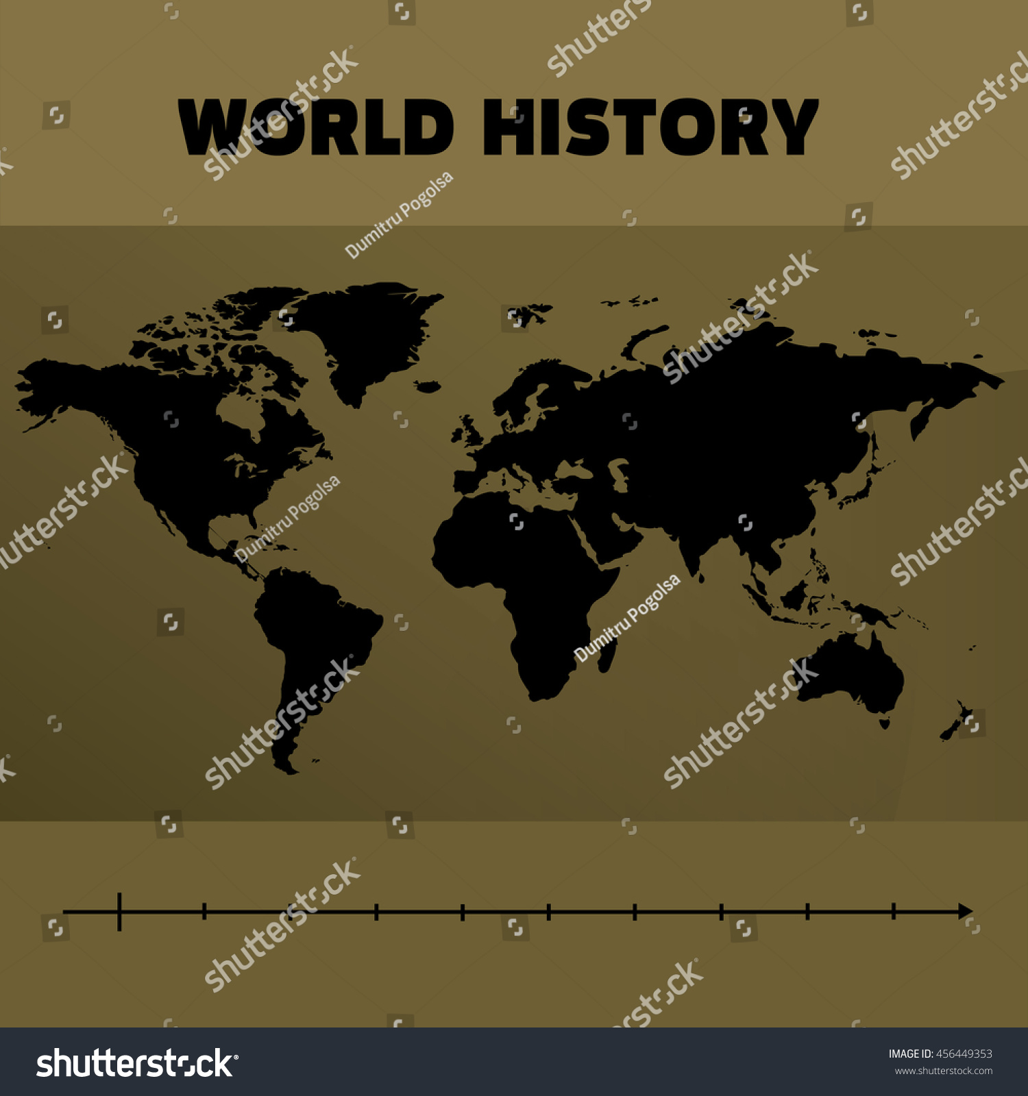 World map black gold historical time stock photo photo vector world map black and gold with historical time line gumiabroncs Gallery