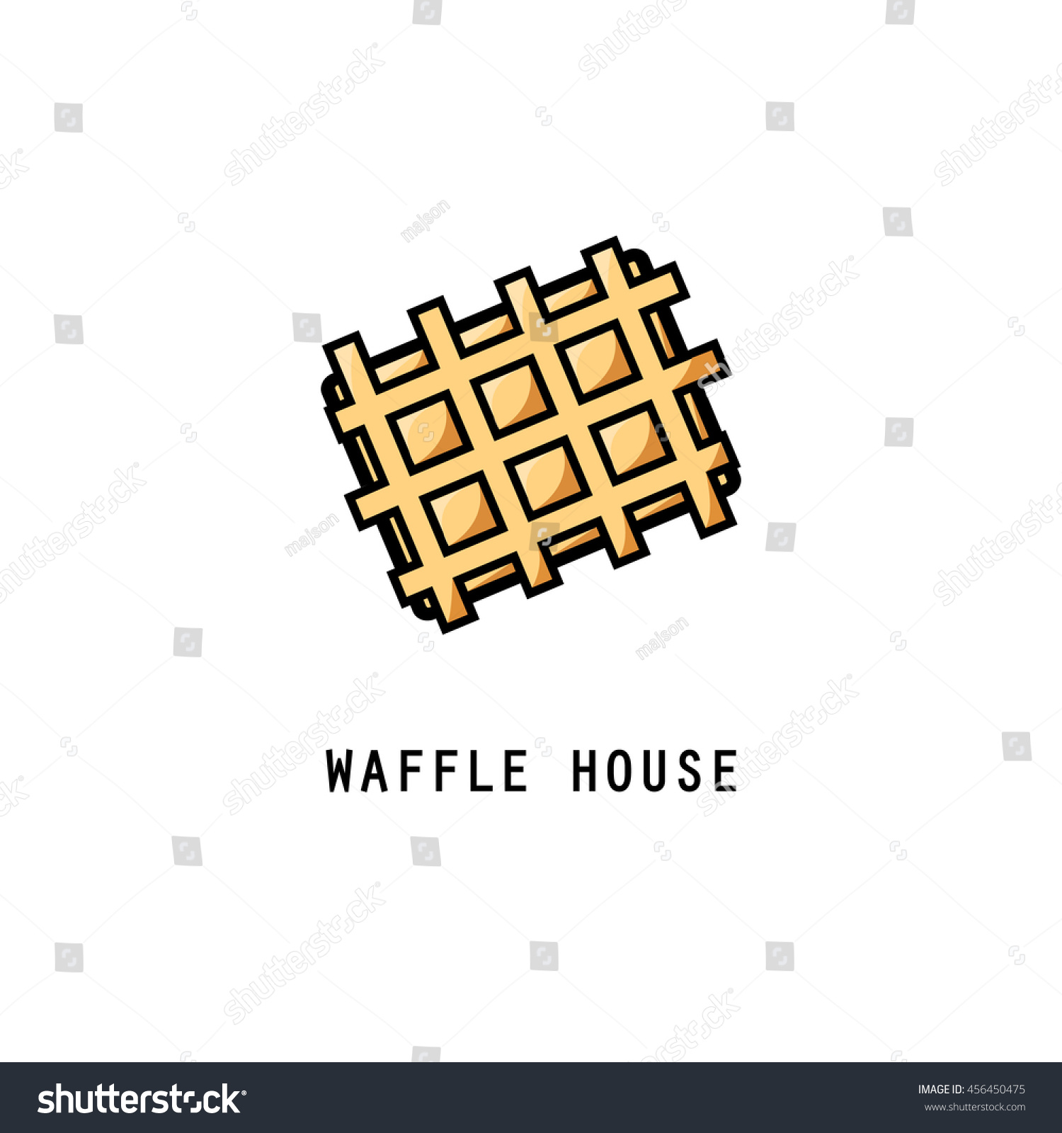 Waffle Icon Stock Vector Royalty Free 456450475 Shutterstock