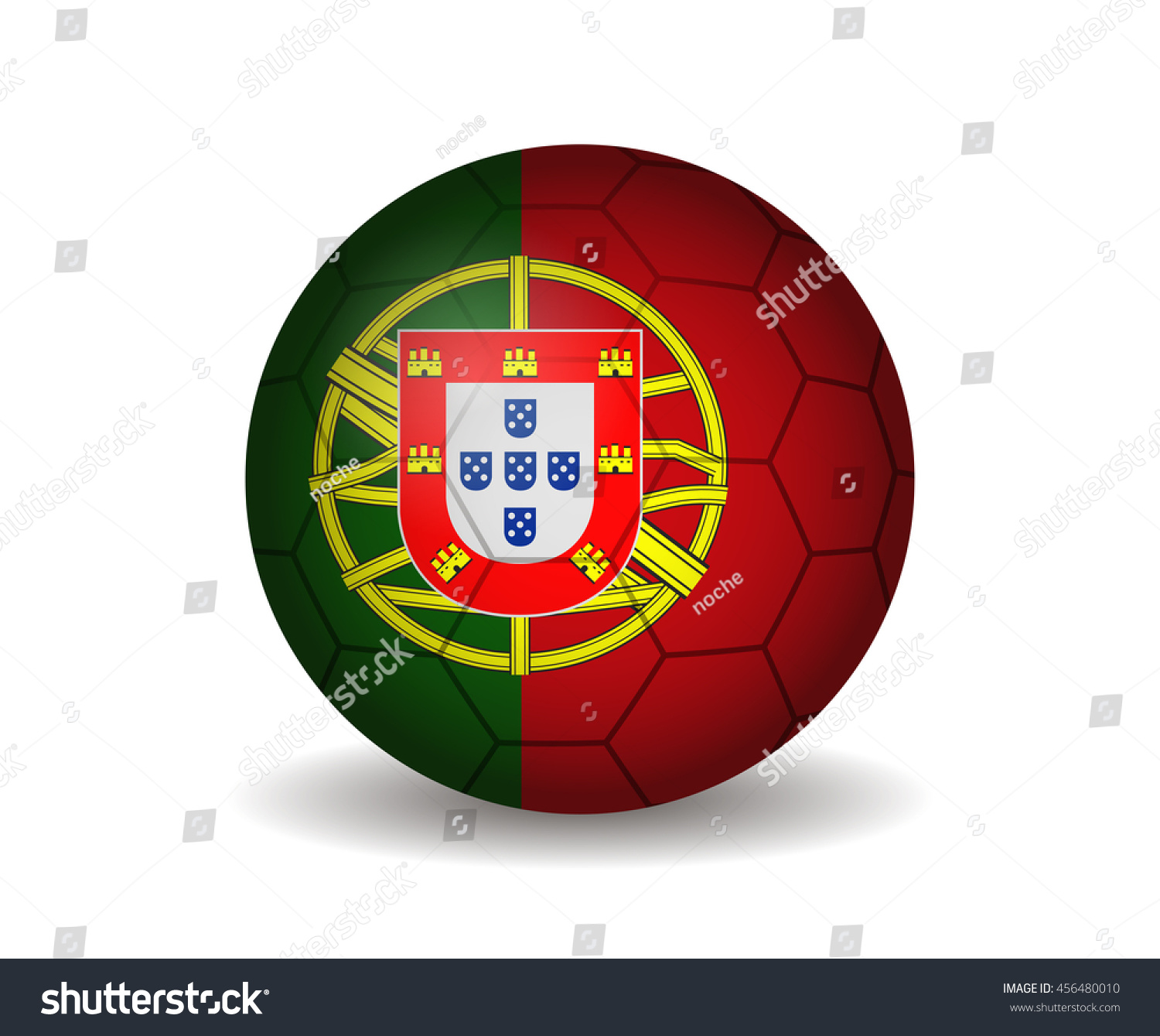 Portugal Soccer Ball Stock Vector Royalty Free 456480010