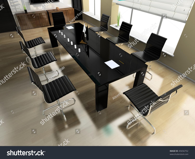 modern interior office stock. The Modern Interior Of Office 3d Image Stock I