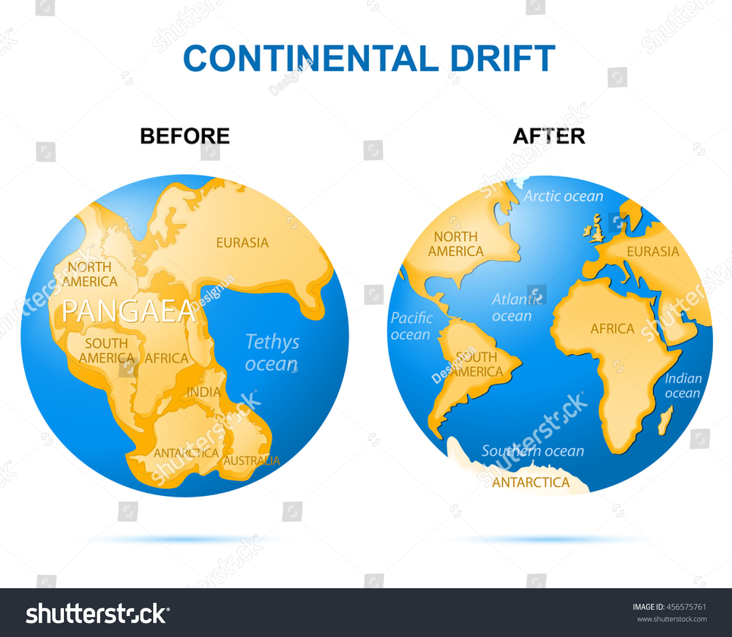 Image result for continental drift
