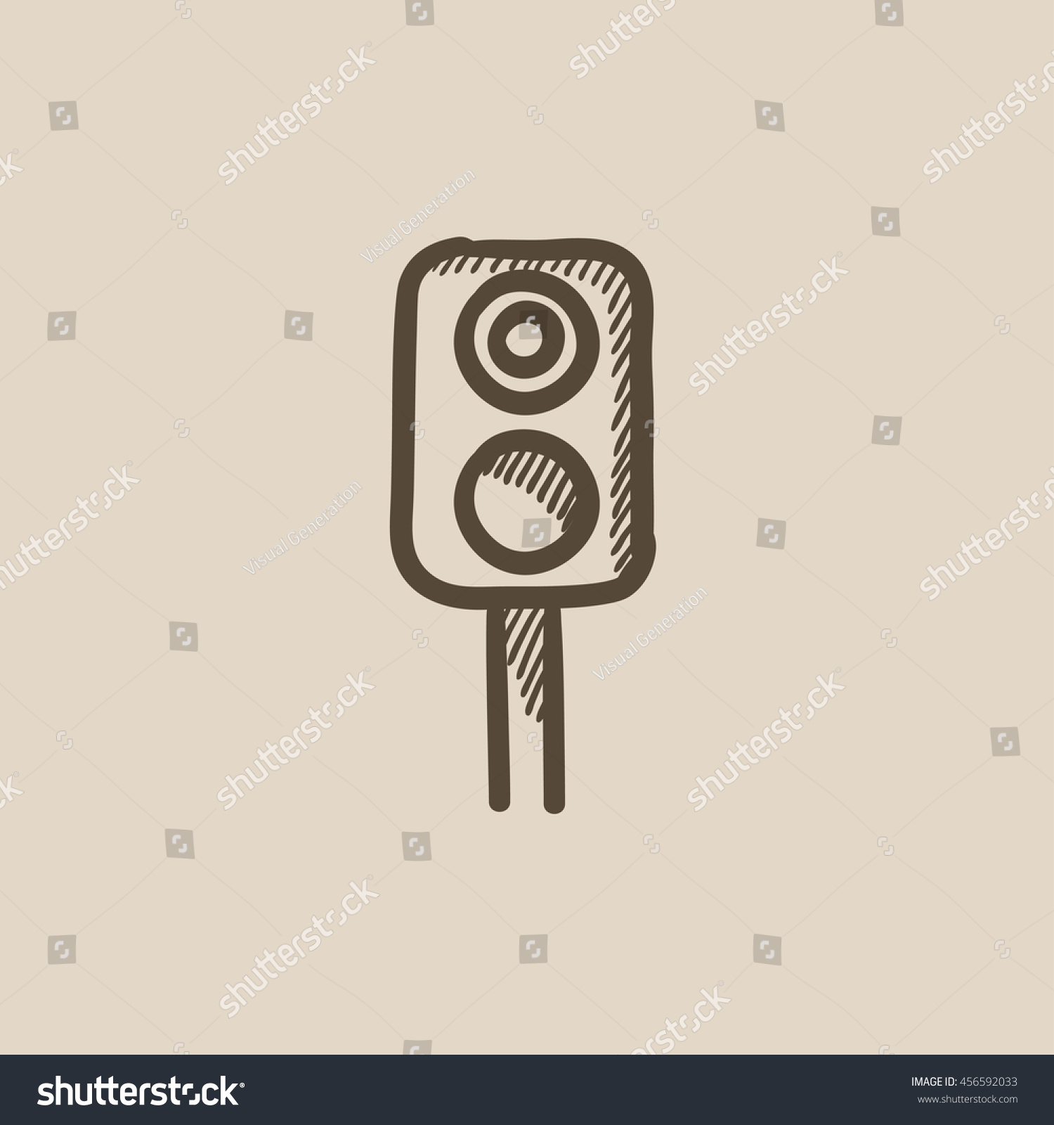 Railway Traffic Light Vector Sketch Icon Stock Vector 456592033 ... for Traffic Light Sketch  56mzq