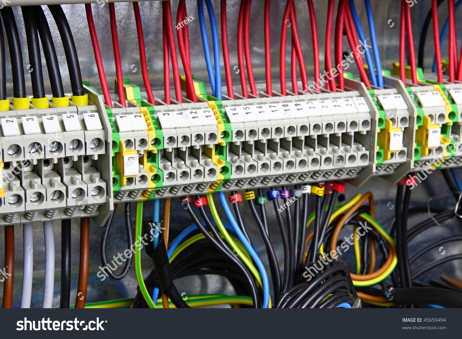 Color Wires Box Distribution Electricity Stock Photo (Safe to Use ...