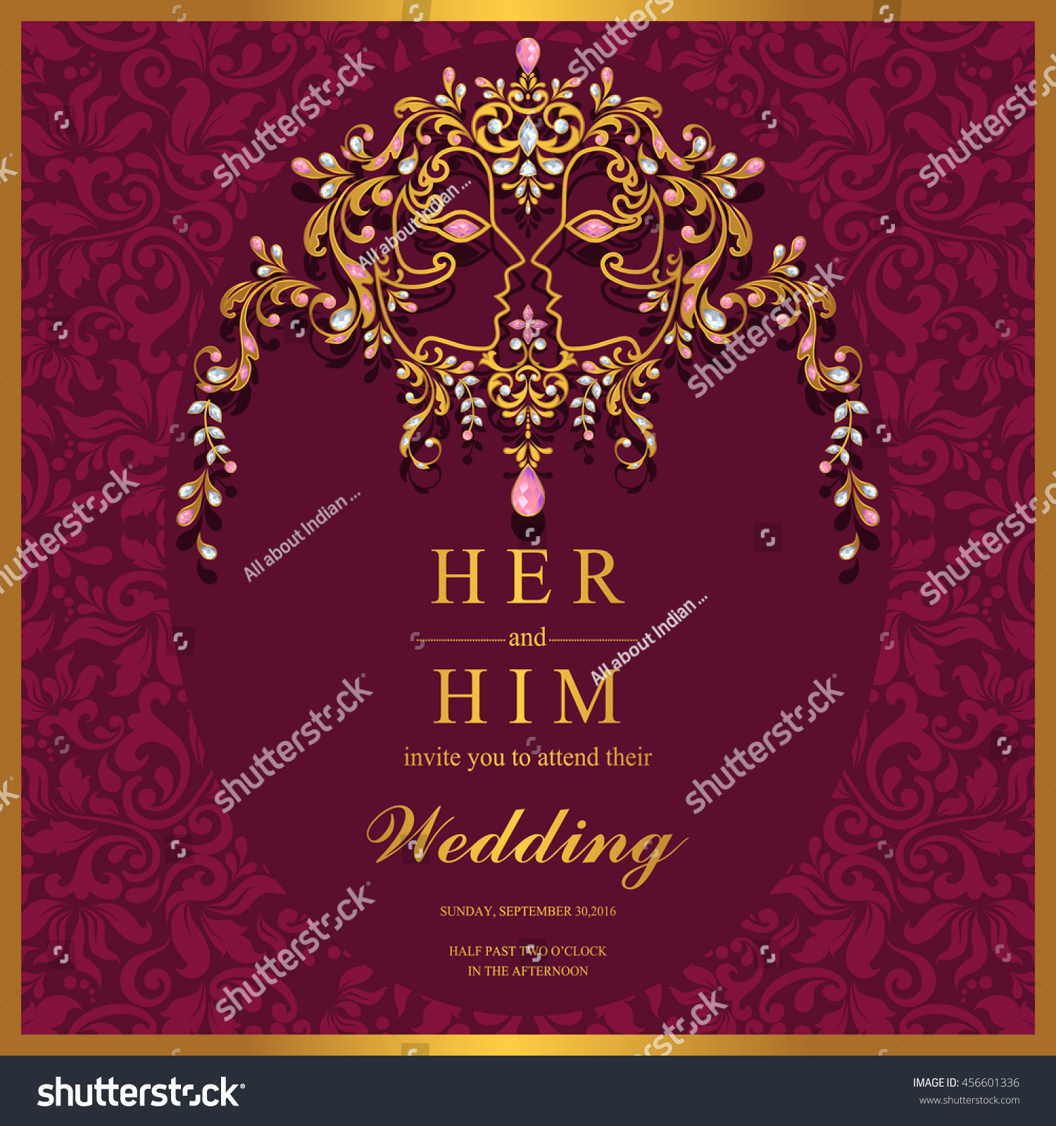 Wedding Invitation Card Abstract Background Islam Stock Vector HD ...