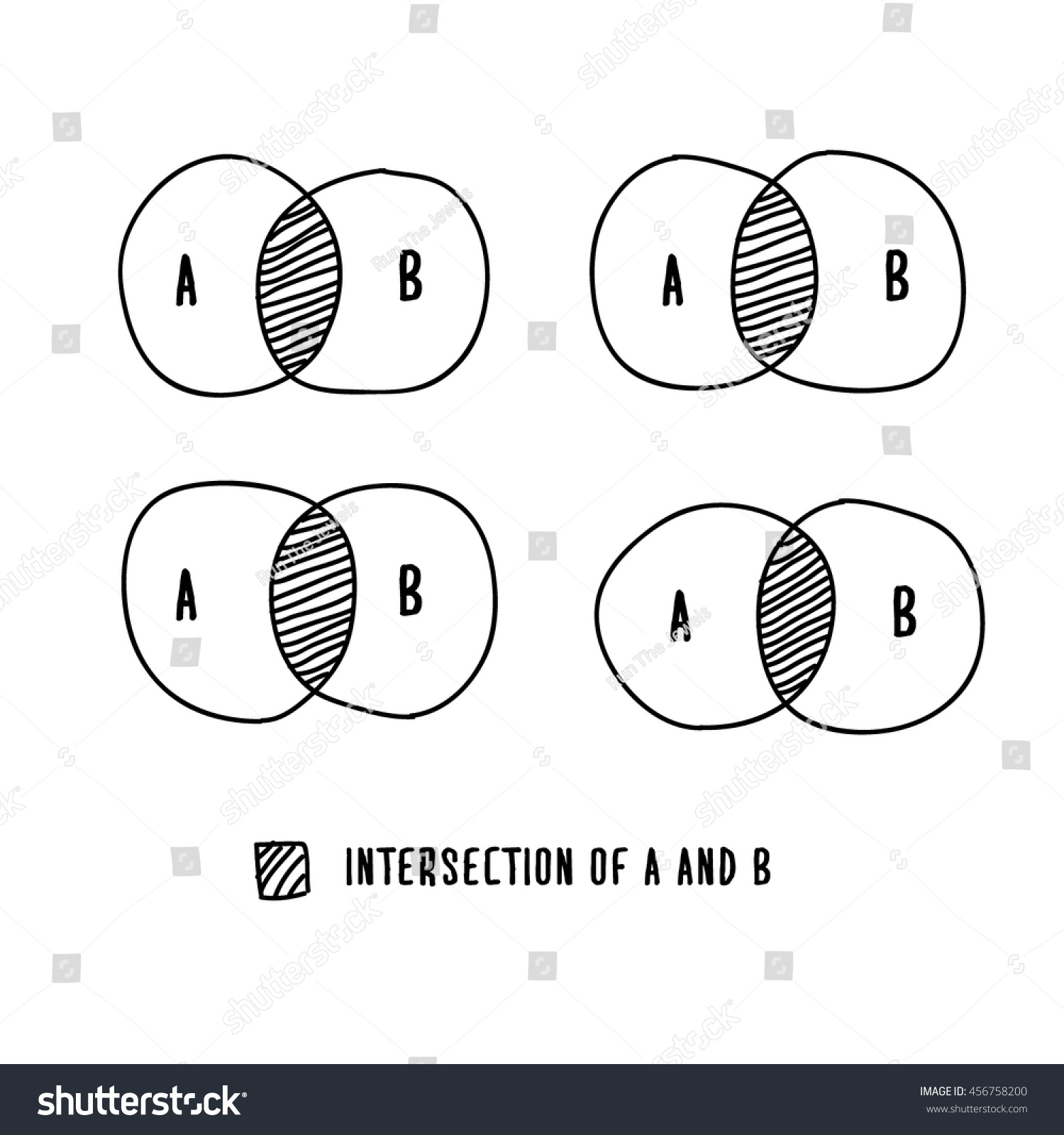 Venn Diagram Template With Lines Graph Paper Print