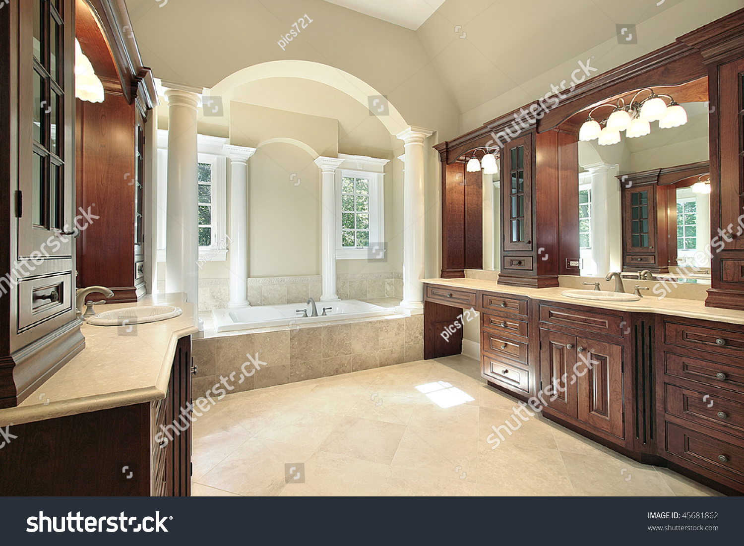 Luxury White Bathrooms24 luxury master bathrooms. luxury master bathroom with whirlpool tub
