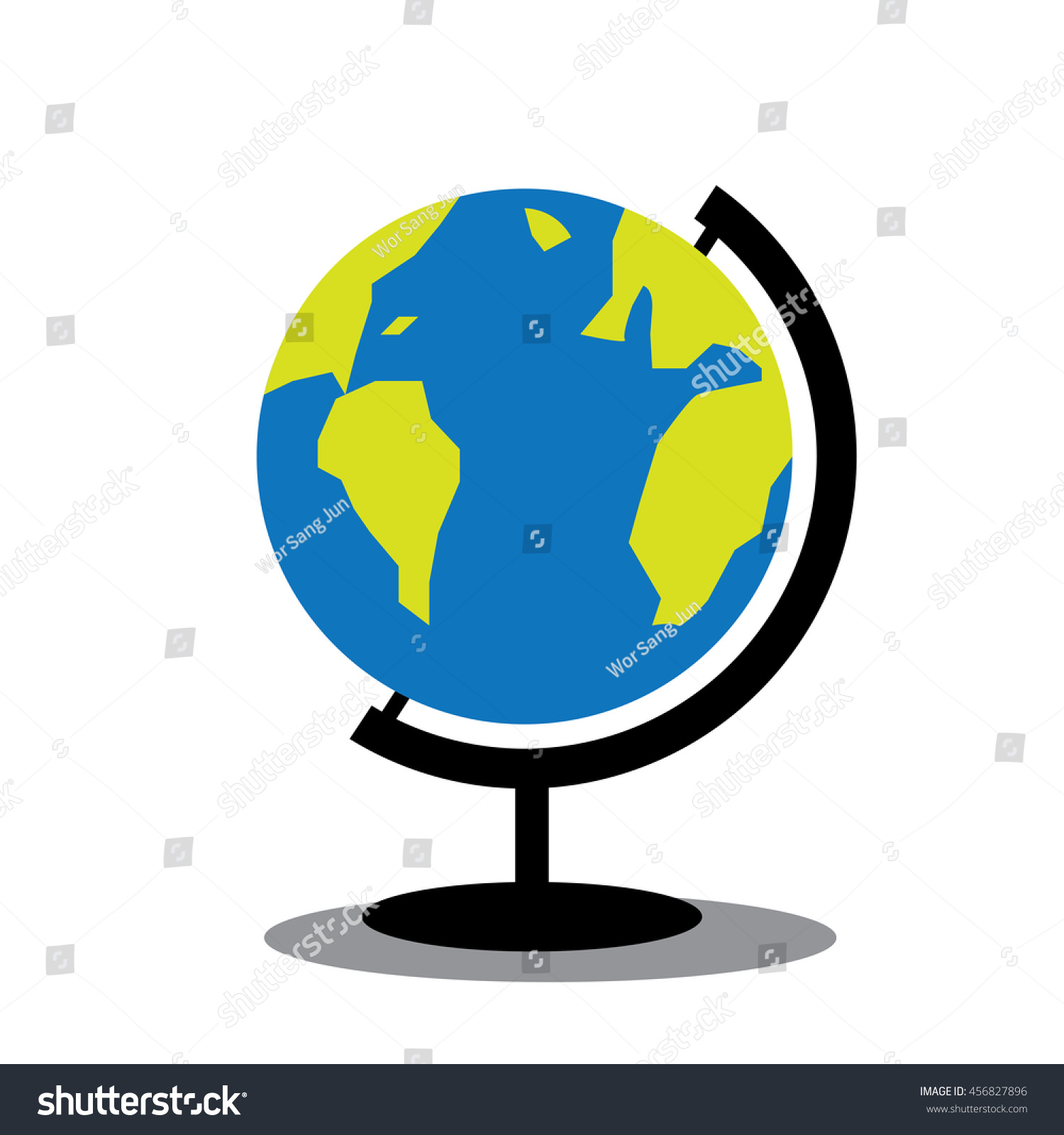 World map globe toy standvector stock vector royalty free world map globe toy with stand vector gumiabroncs Image collections