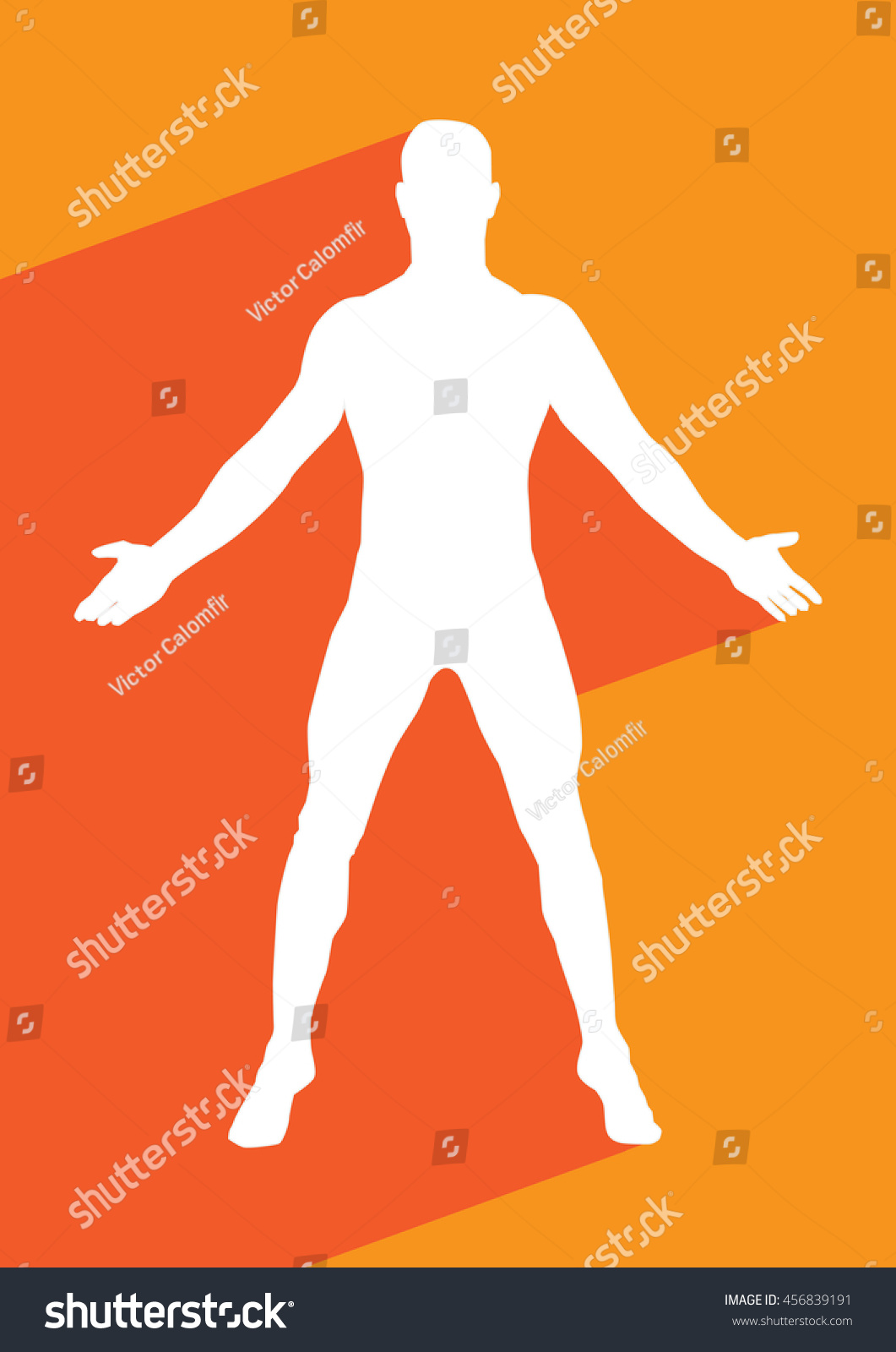 Male Human Body Belonging Adult Man Stock Vector 456839191
