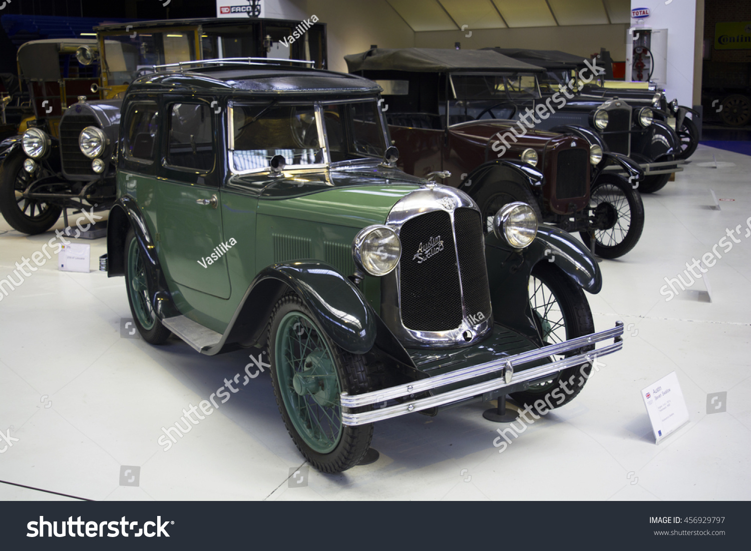 Autoworld Museum Brussels Belgium 10 July Stock Photo (Royalty Free ...
