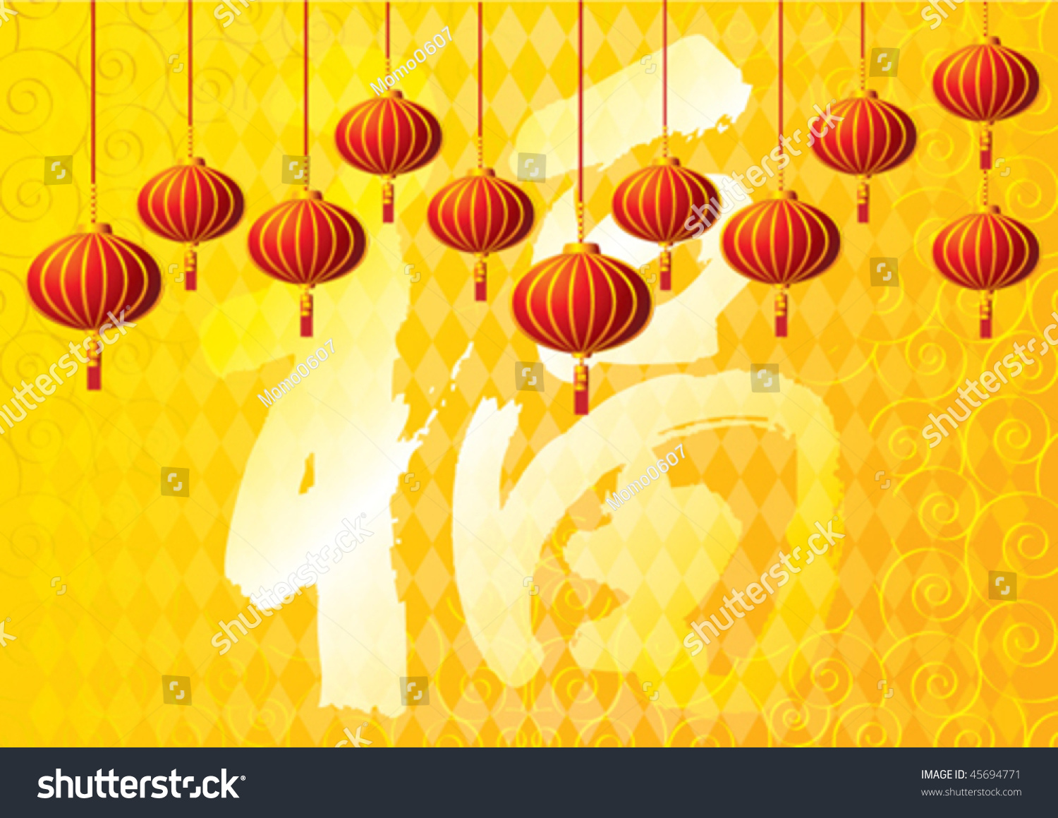 golden yellow chinese new year background