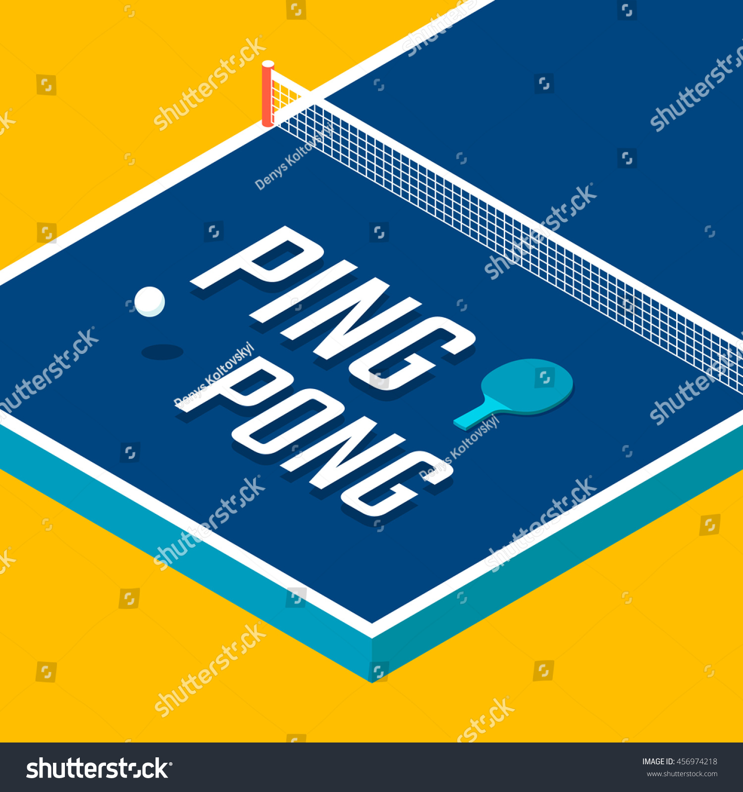 Poster design vector - Ping Pong Poster Design Table Tennis Vector Illustration