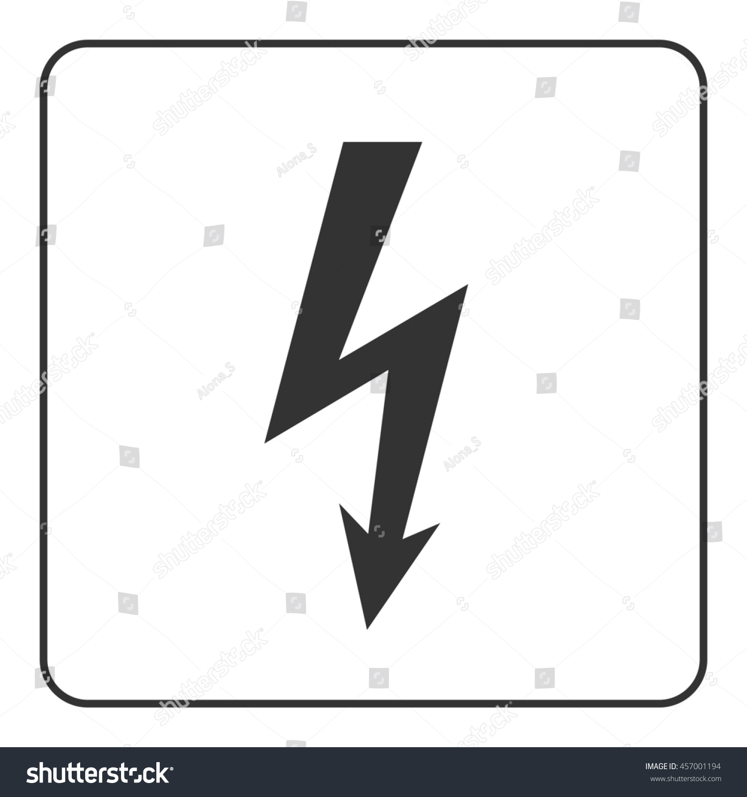 Lightning Icon Electricity Bolt Sign Isolated Stock Illustration ...