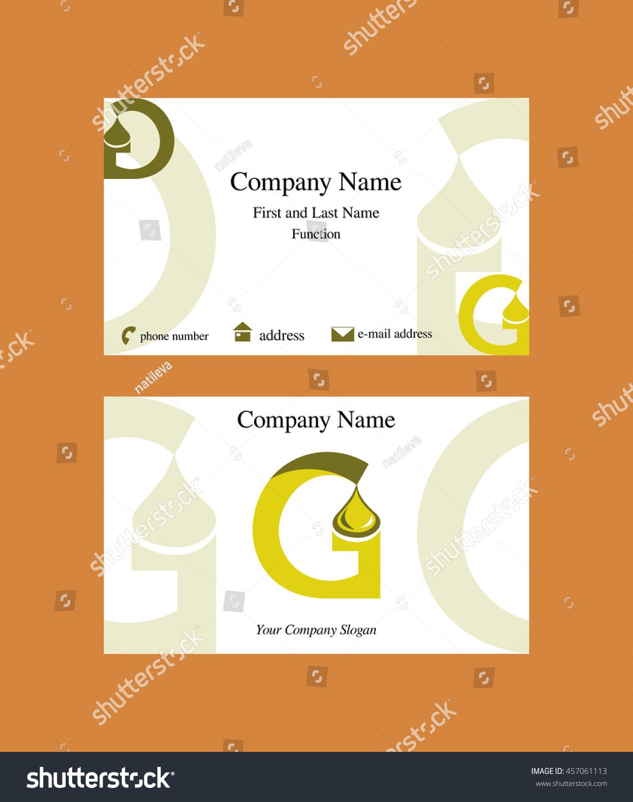 Business Card G Letter Logo Oil Stock Vector 457061113 - Shutterstock