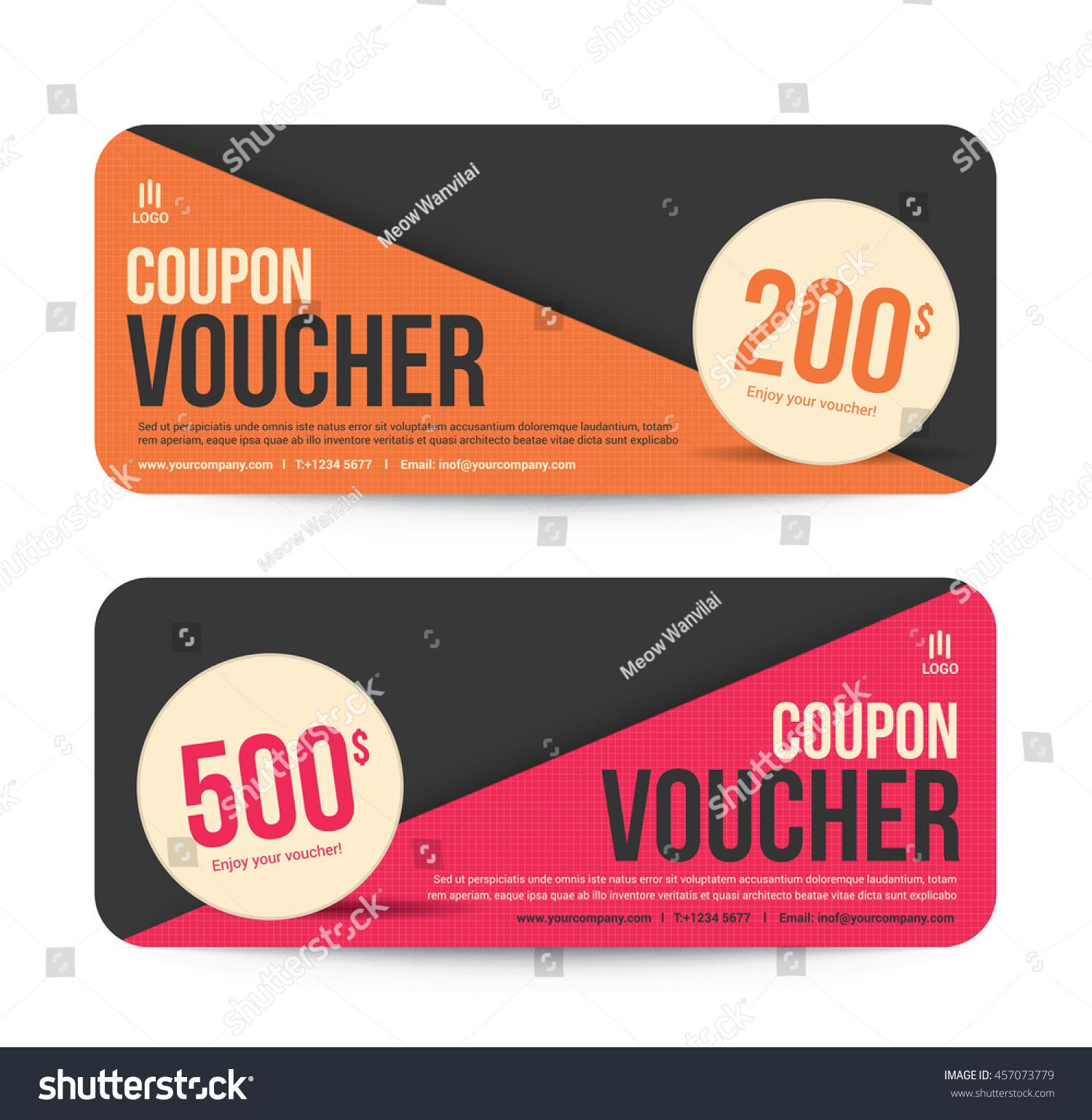 Template Gift Voucher Coupon Discount Background Vector de ...