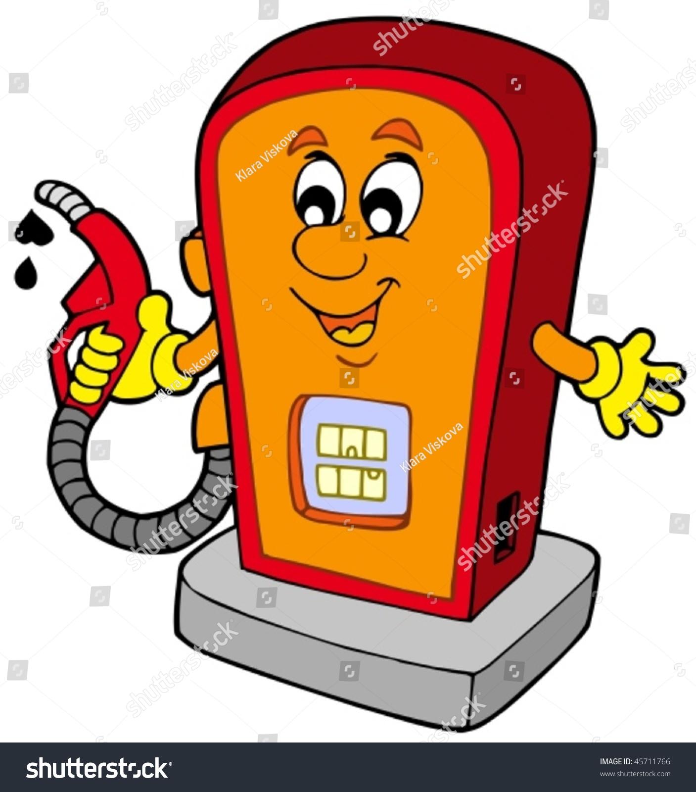 Cartoon Gas Station Ve... Gasoline Pump Handle