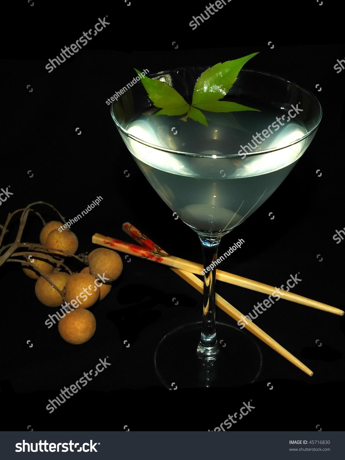 Lychee martini lycheevodka stock photo 45716830 shutterstock for Cocktail litchi