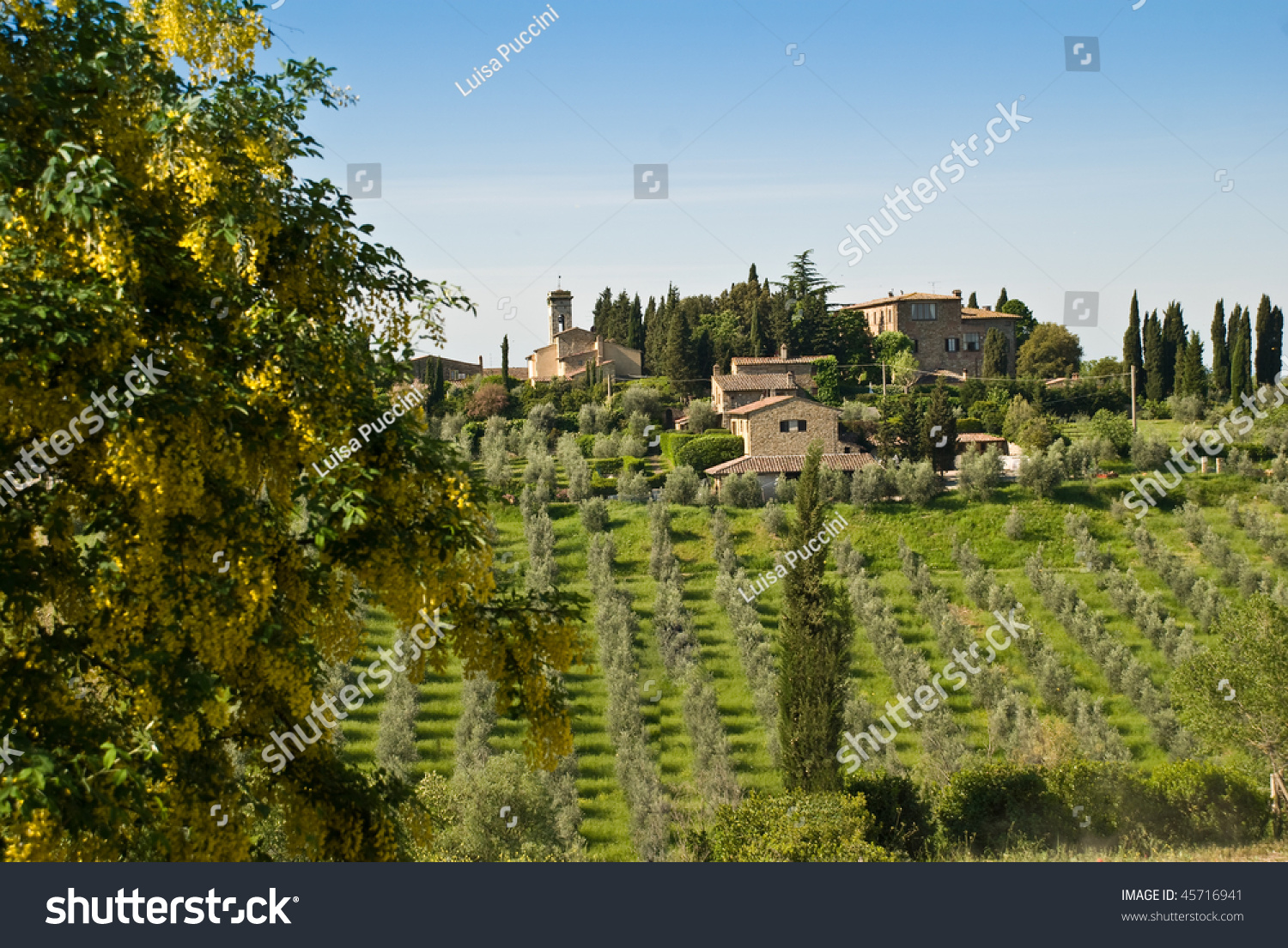A Beautiful Landscape In A Typical Tuscany 39 S Village