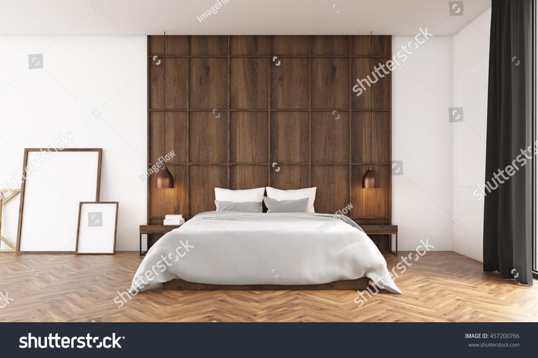 Bedroom Big Window Wooden Wall Posters Stock Illustration 457200766 Shutterstock