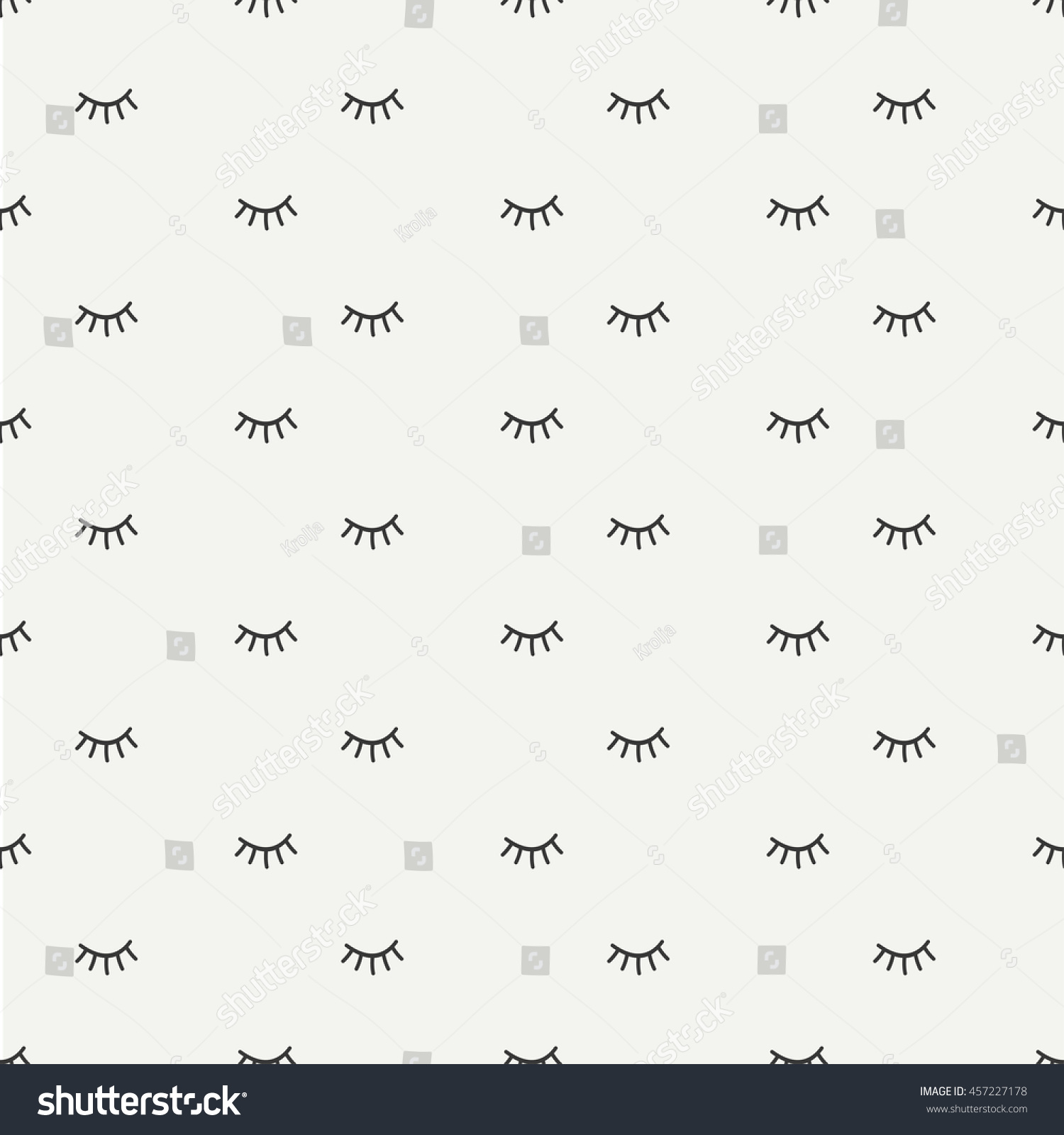 stock vector hand drawn seamless pattern with close eyes wrapping paper vector background casual texture 457227178 hand drawn seamless pattern close eyes stock vector (royalty free