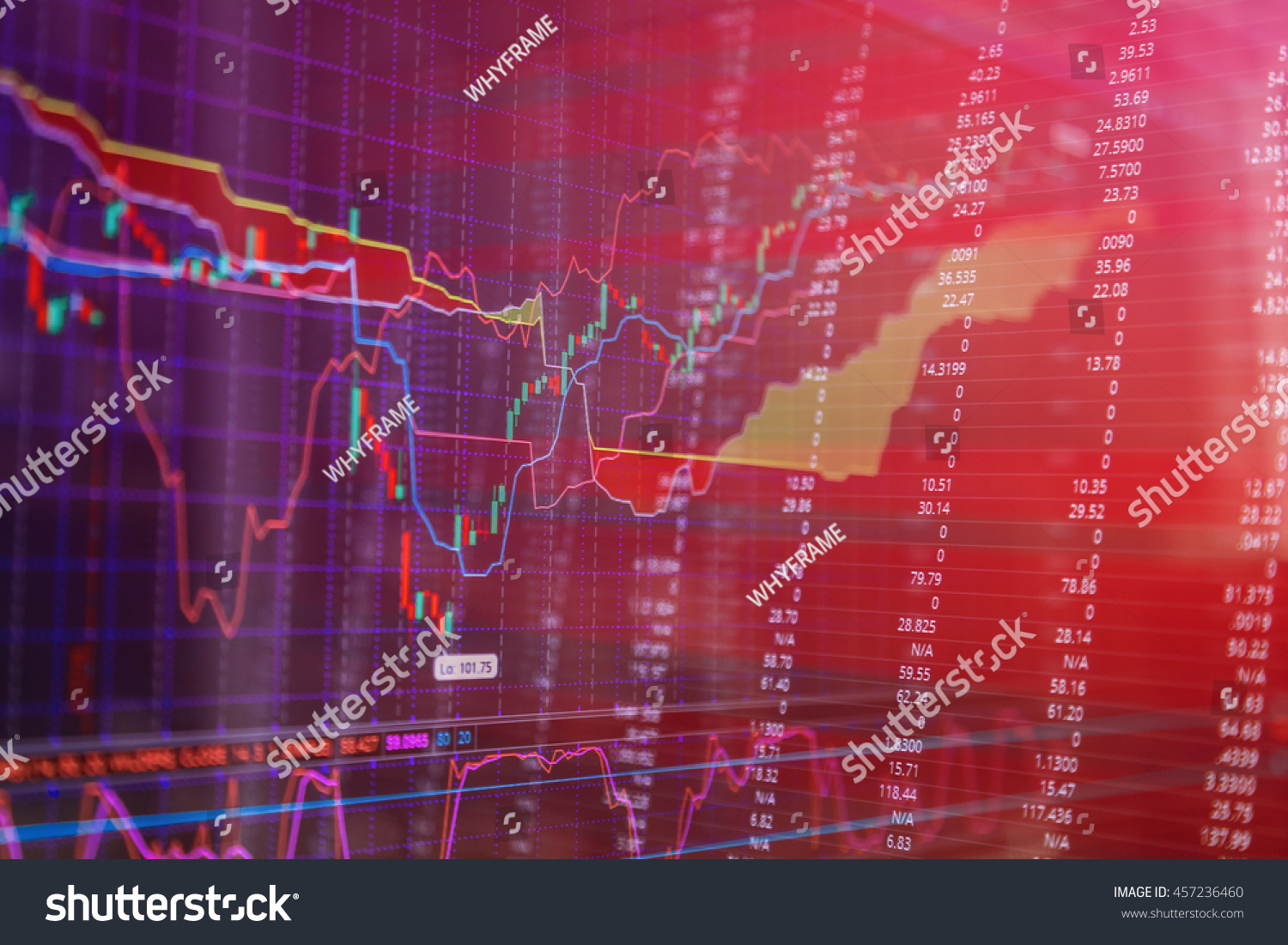 stock market prices candle stick stock stock photo royalty free