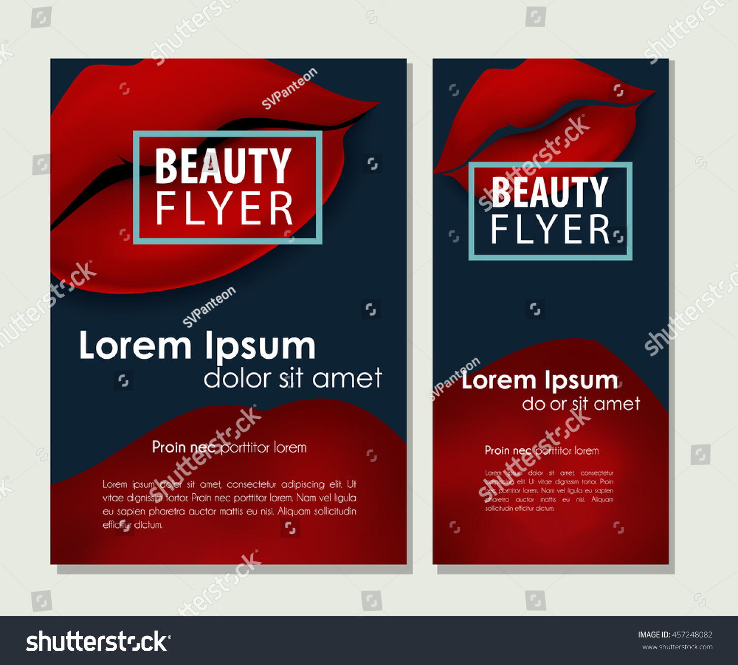 makeup offer red vector lips stock vector