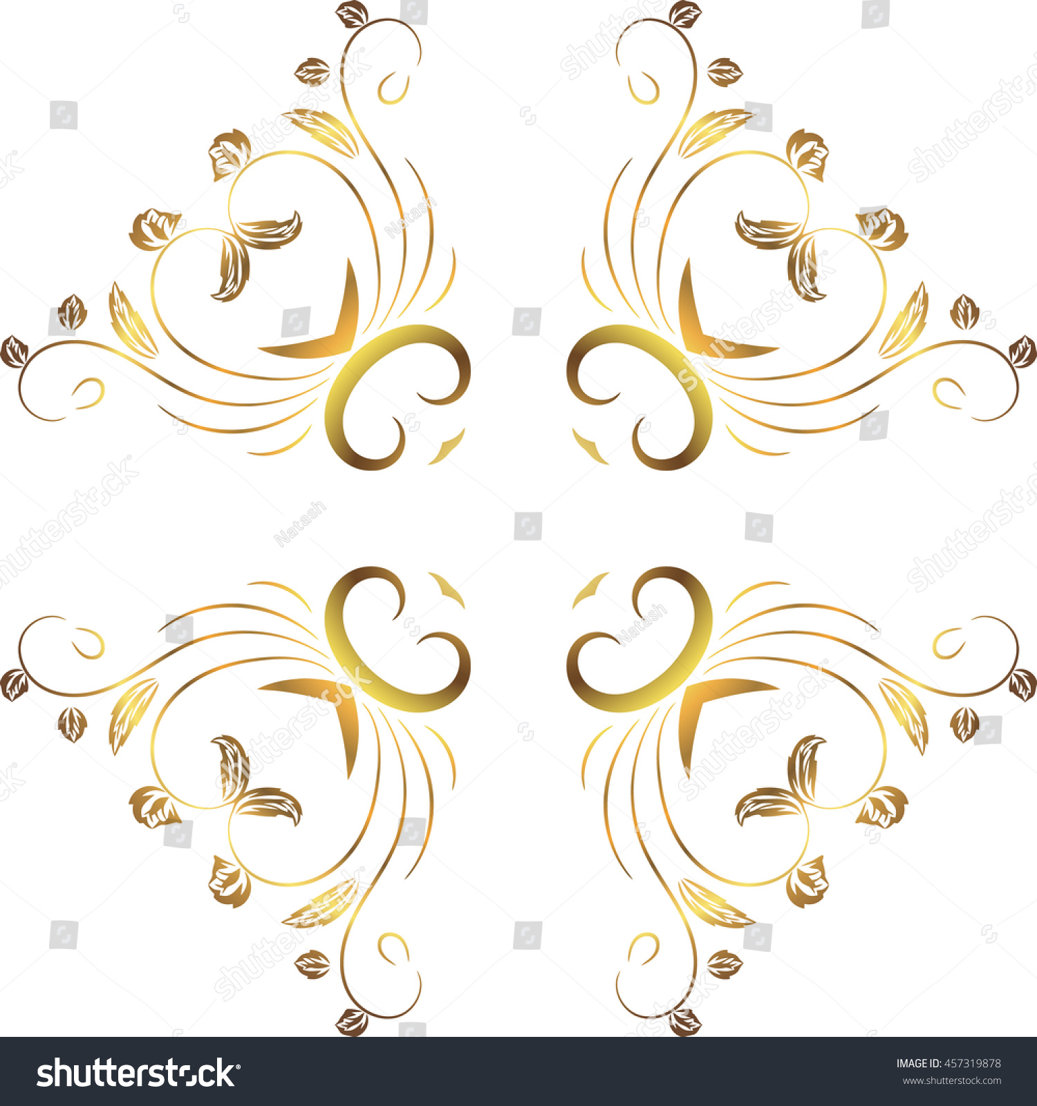 Abstract floral decoration symmetrical transparent for Abstract decoration
