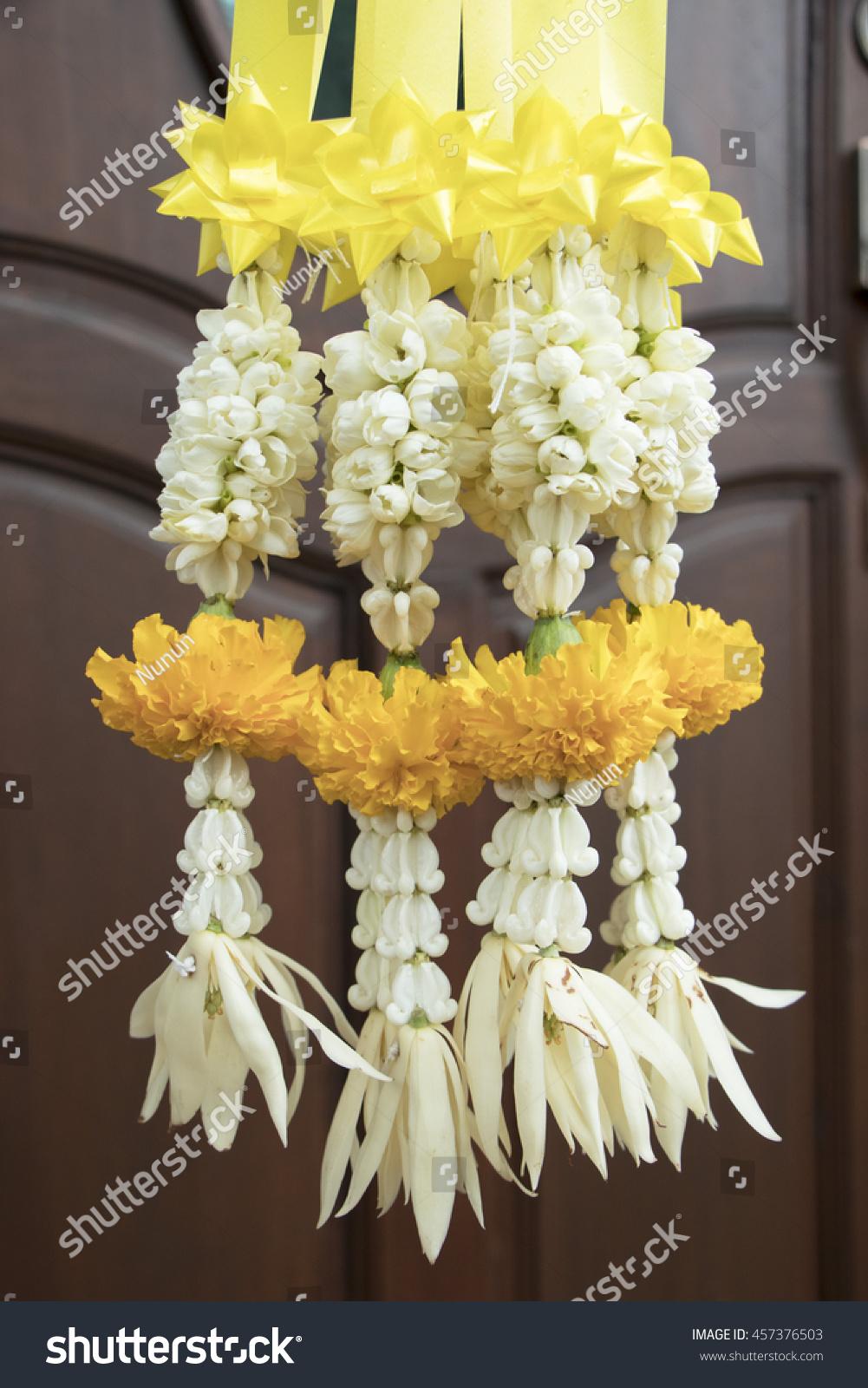 Jasmine Garland Marigold Flower Buddha Flower Stock Photo Edit Now