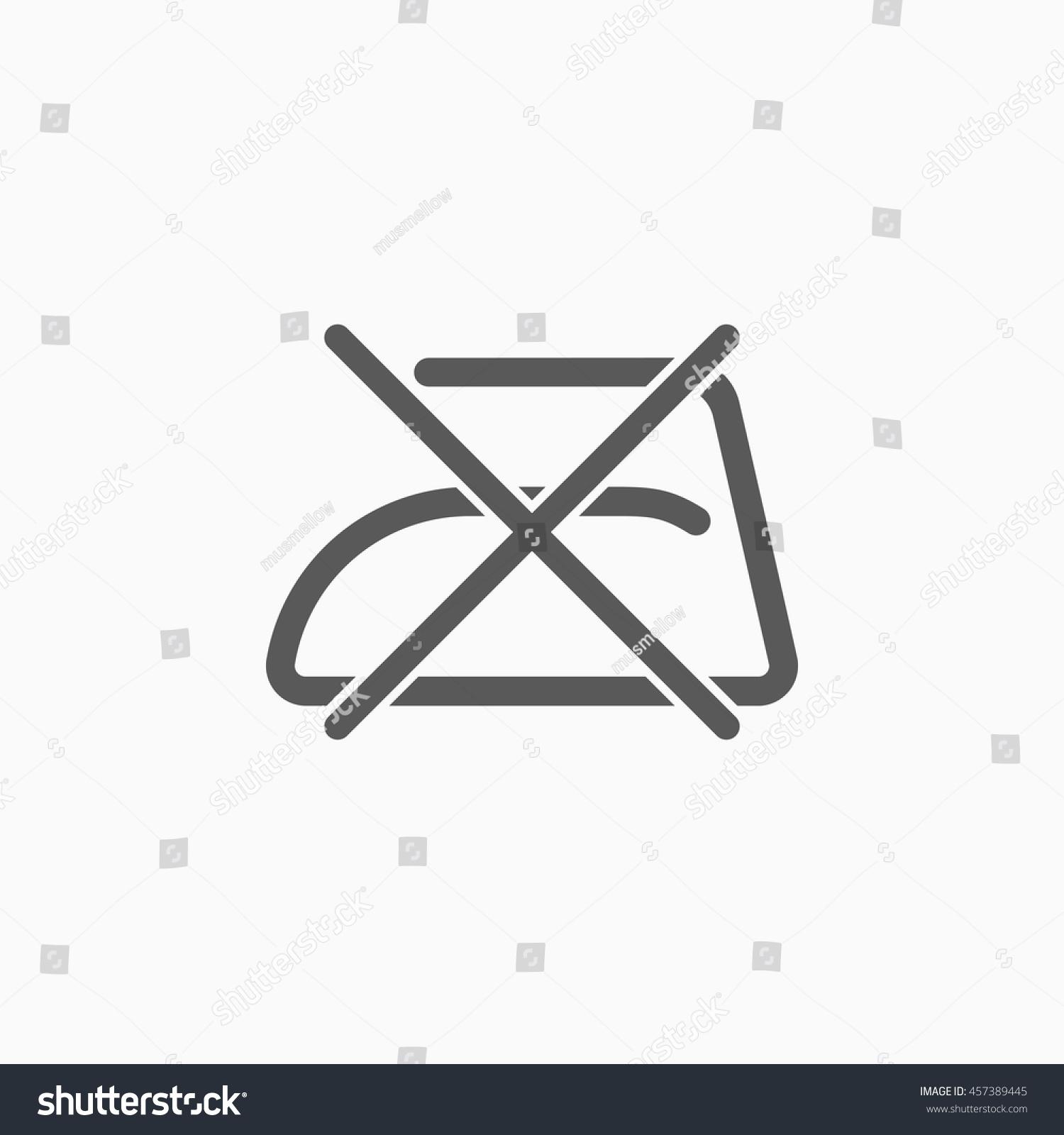 Do Not Iron Icon Stock Vector 457389445 Shutterstock