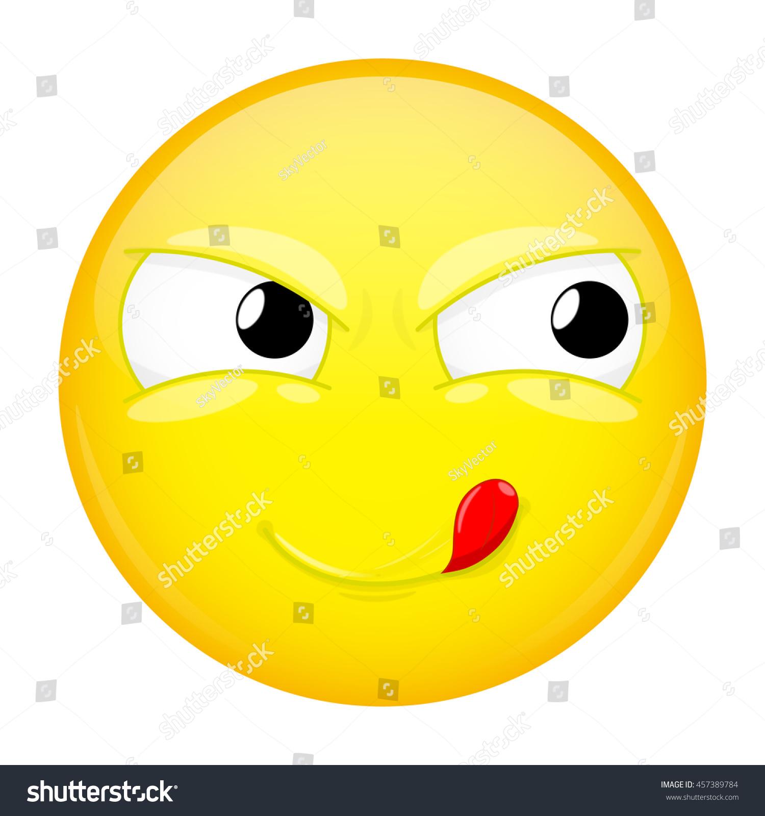 Un emoticono para tu estado de ánimo - Página 6 Stock-vector-lick-lips-emoji-good-emotion-yummy-emoticon-vector-illustration-smile-icon-457389784