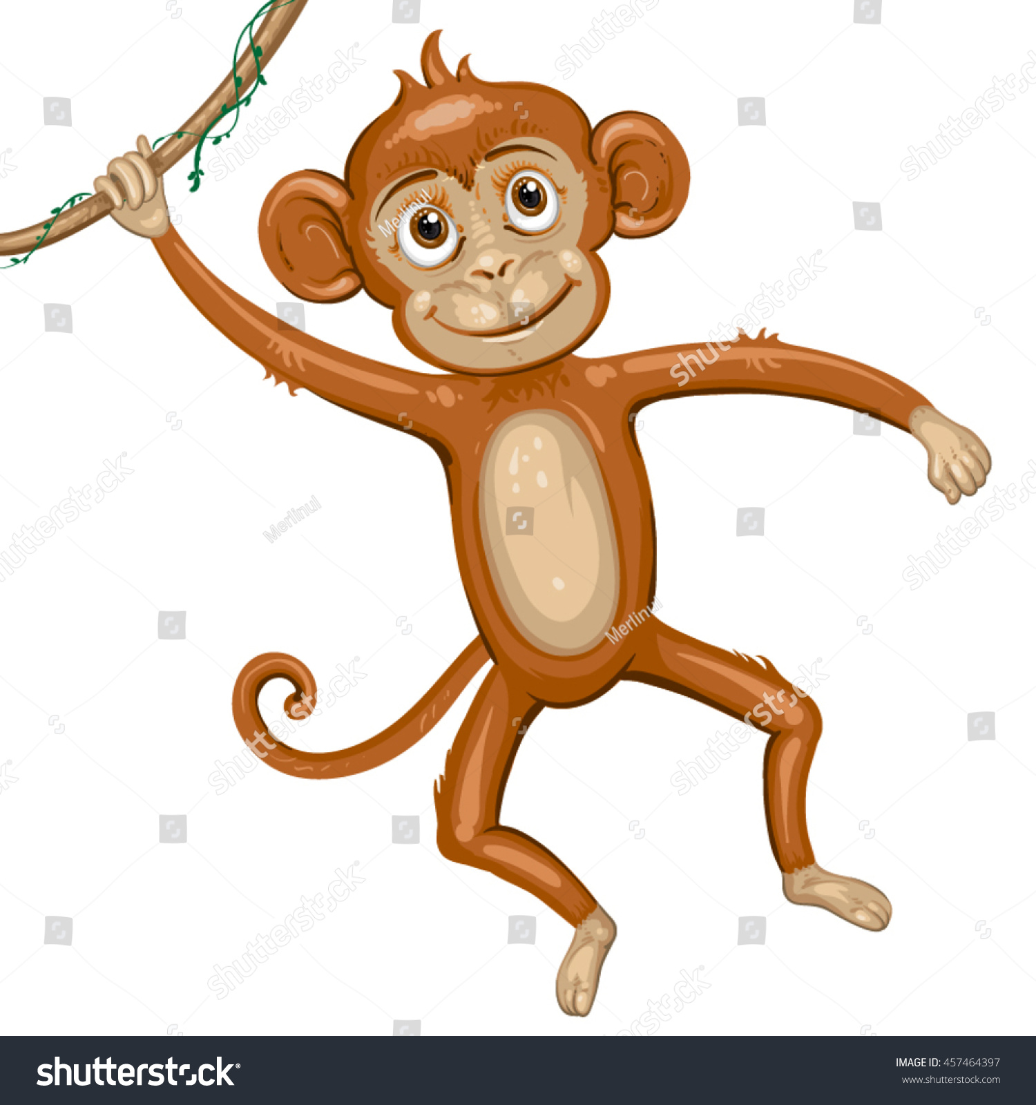 Images for simple cartoon monkey hanging - Cartoon Monkey Hanging In Tree