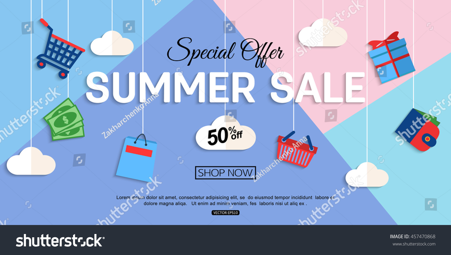 Sale discount background online store shop stock vector for Online retailer for sale