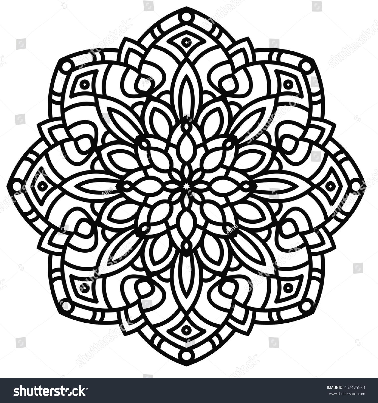 Royalty Free Ethnic Floral Mandala Orient 457475530 Stock Photo