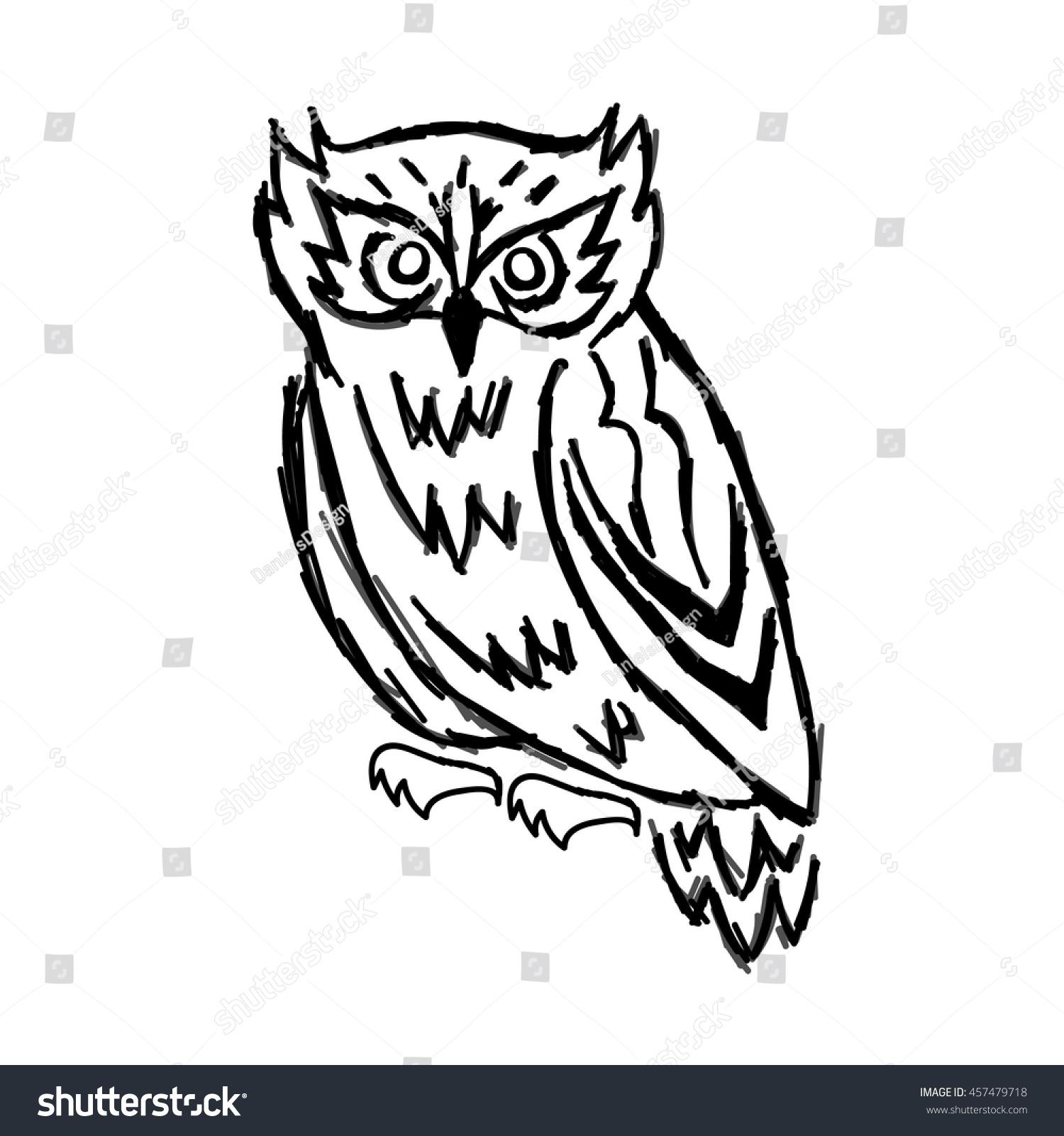 Owl Vector Owls Pattern Owls Logo Stock Vector (Royalty Free ...