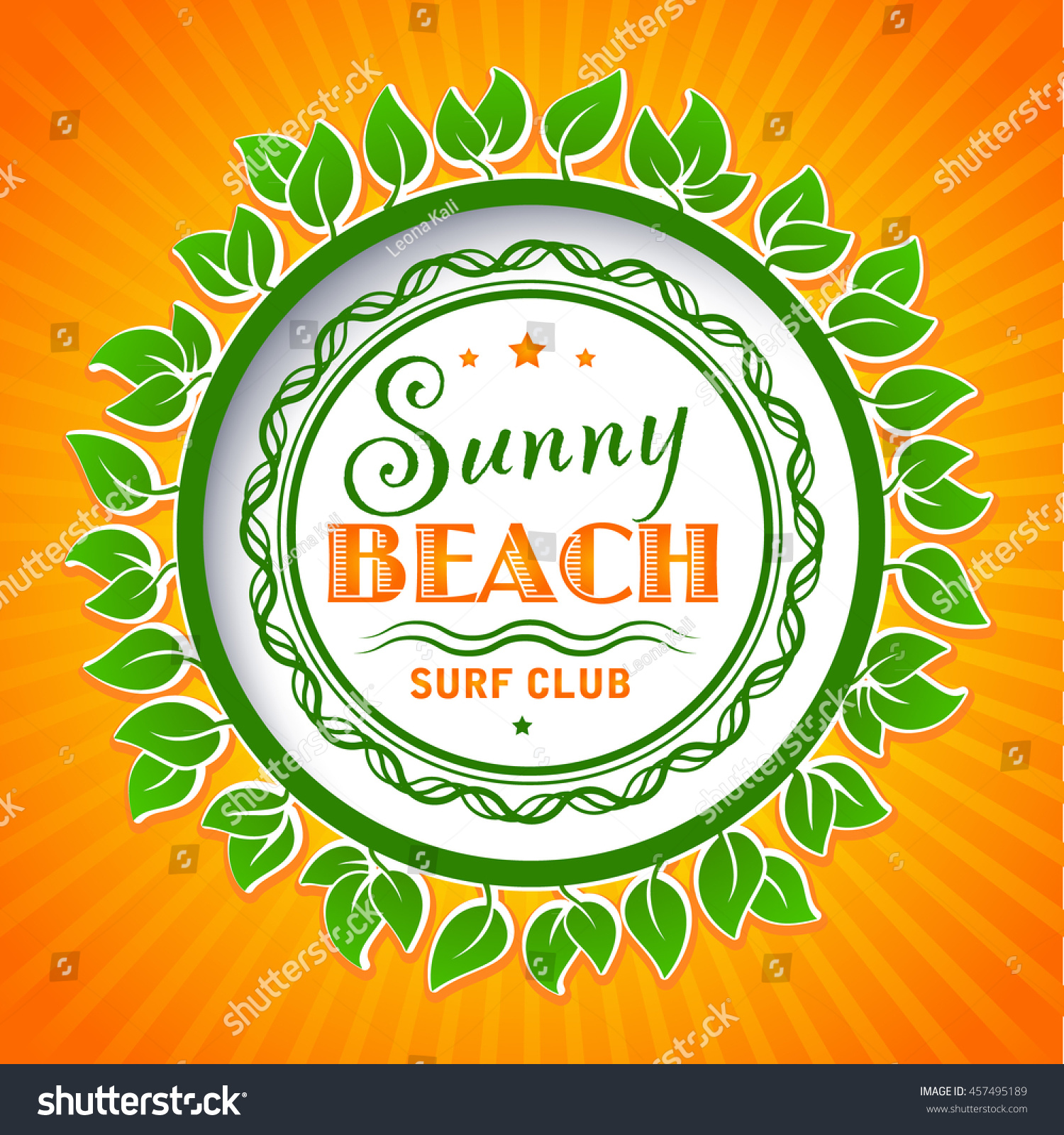 Summer Logo Design Elements Travel Agency Stock Vector