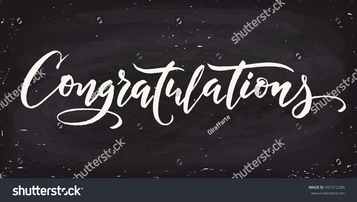 Congratulations calligraphy hand written text lettering stock