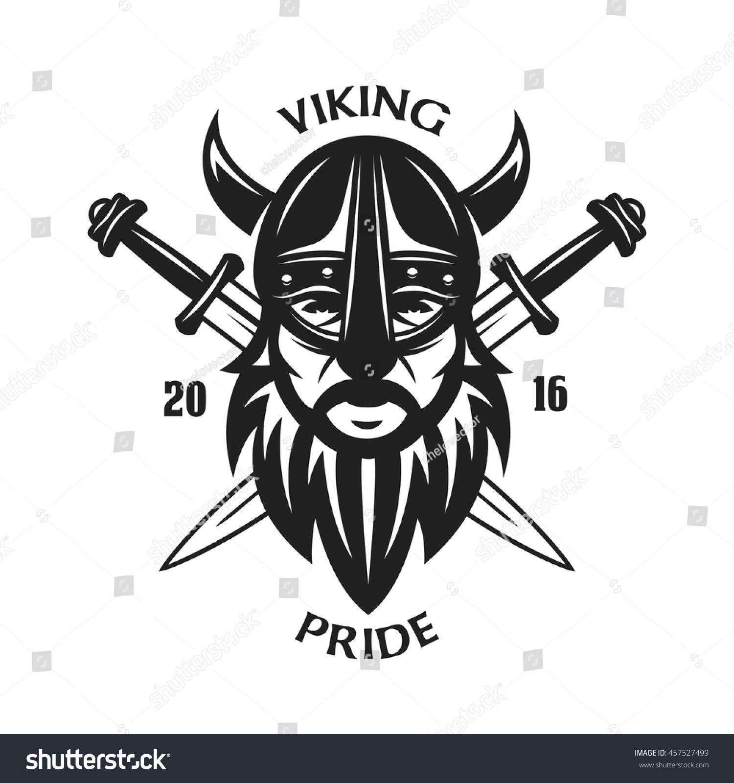 Shirt design elements - Ancient Viking Head T Shirt Graphics And Design Elements Viking Pride Text Crossed