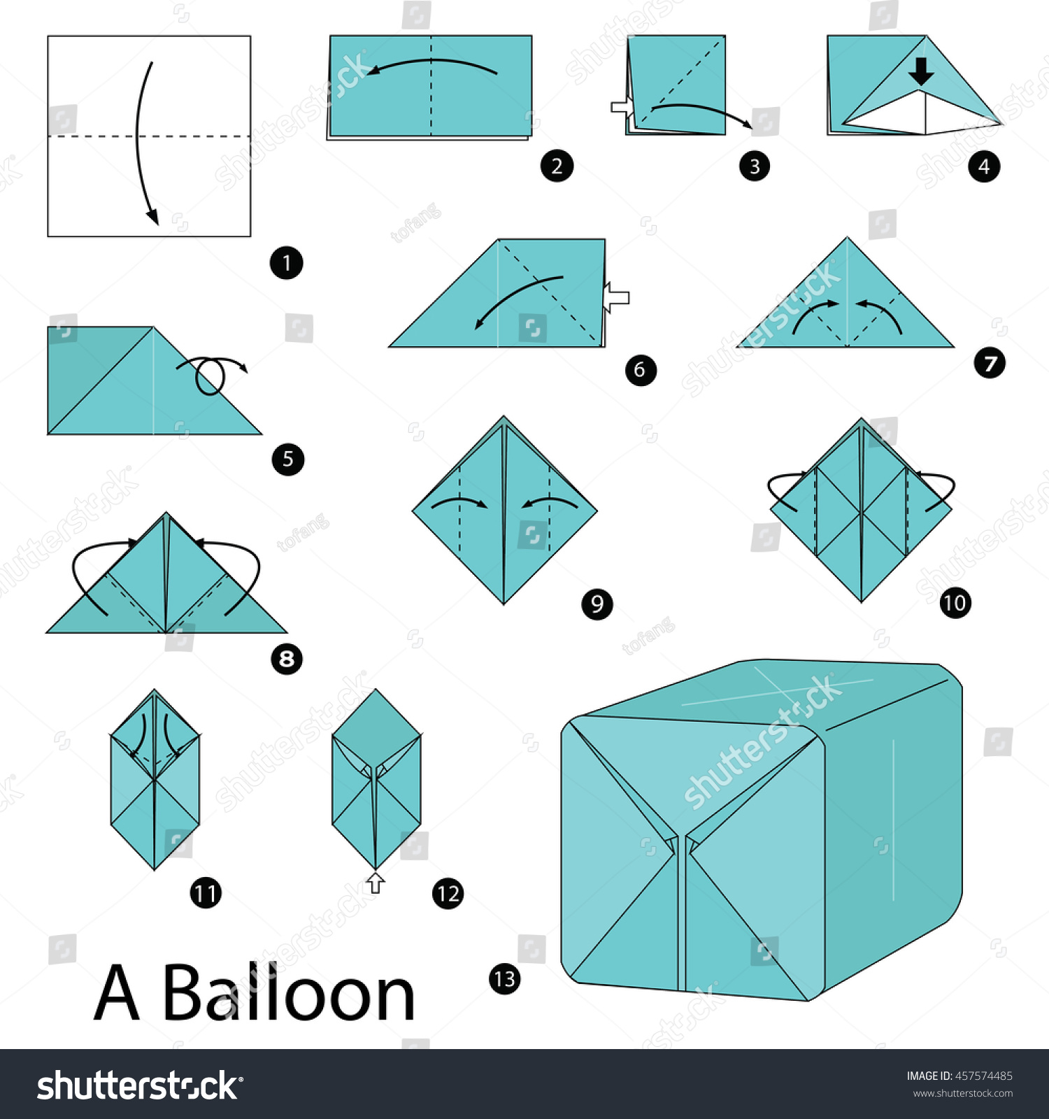 Step By Instructions How To Make Origami A Balloon
