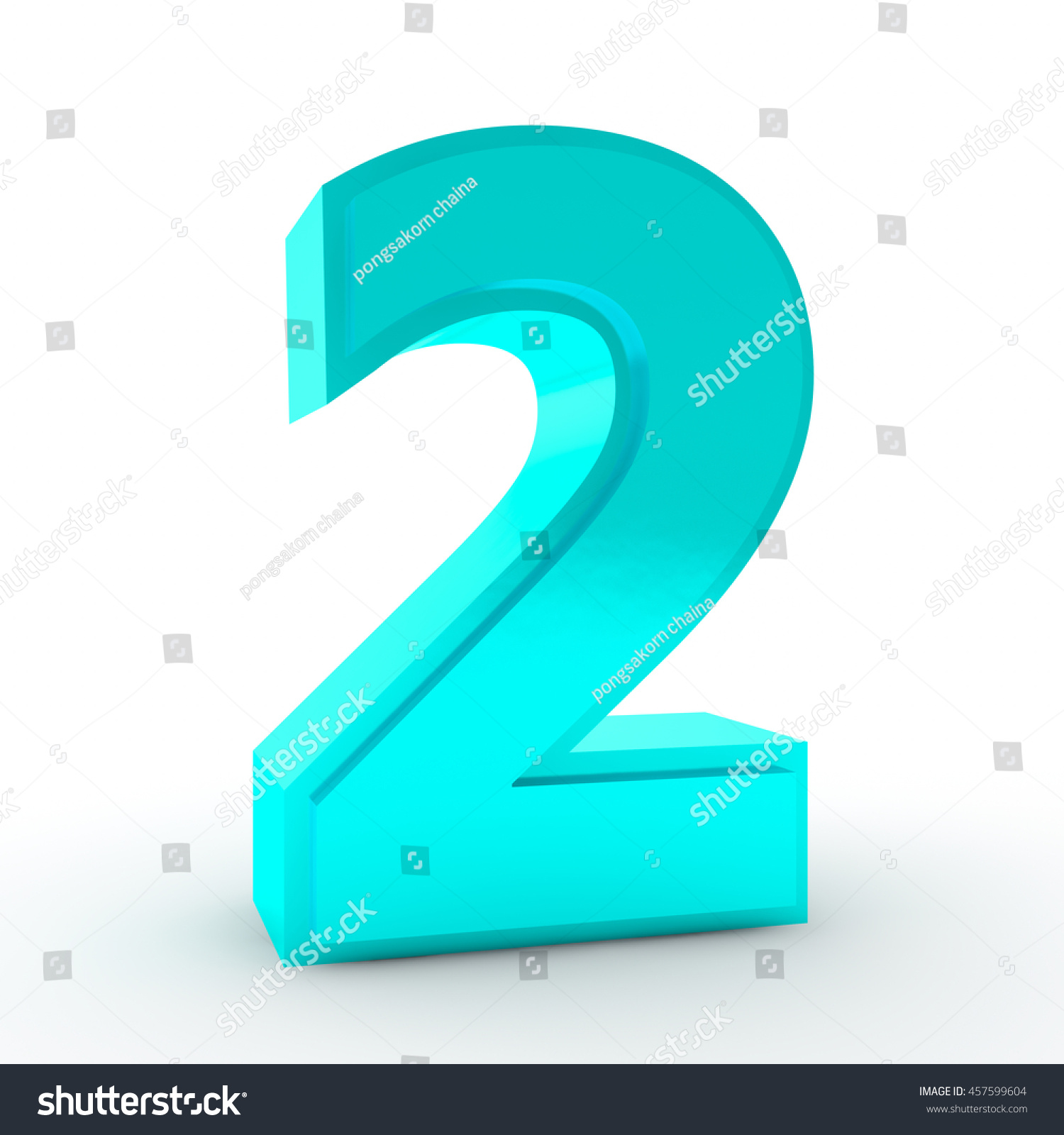 Number 2 Blue Color Collection On Stock Illustration 457599604 ...
