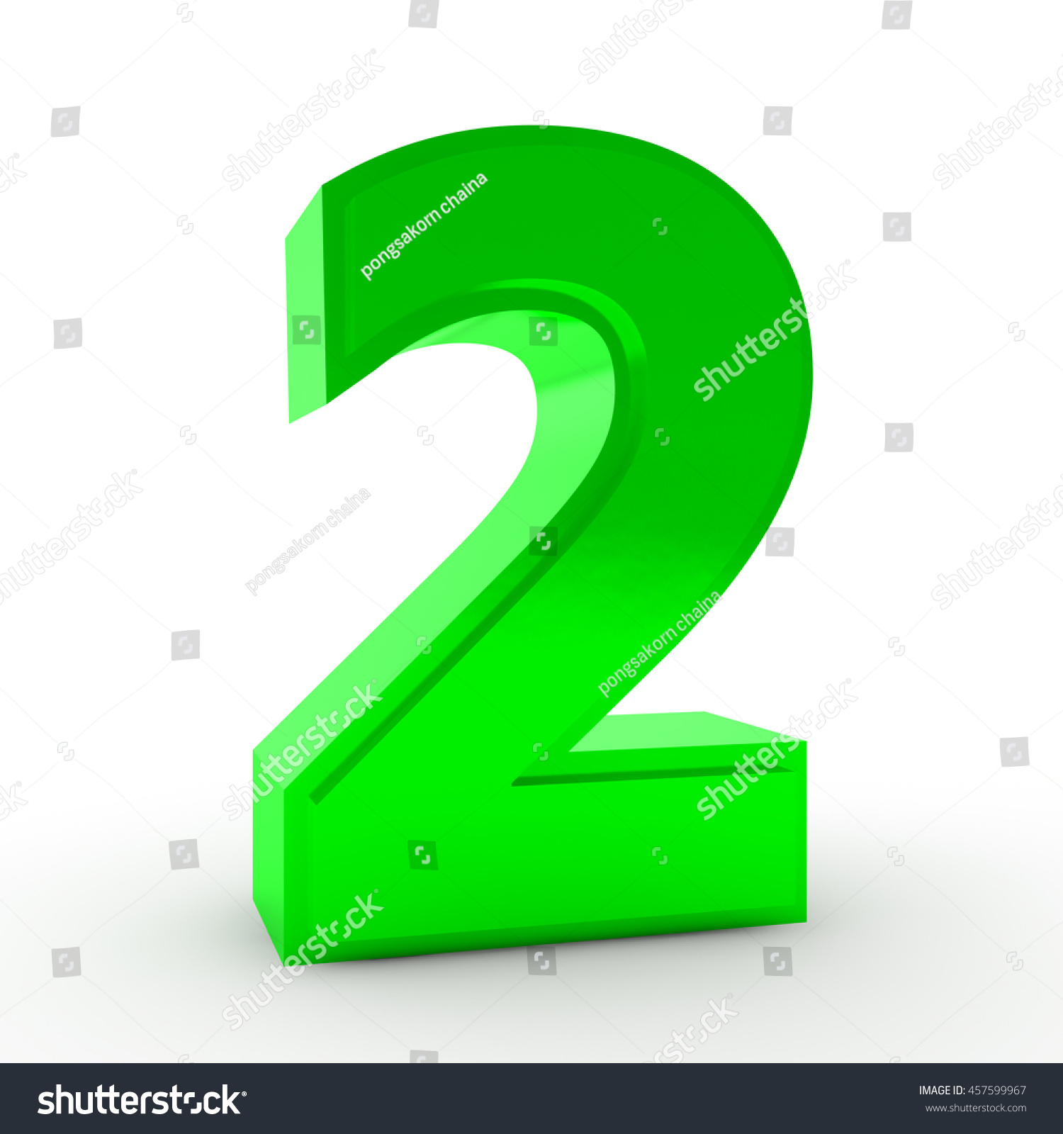 Number 2 Green Color Collection On Stock Illustration 457599967 ...